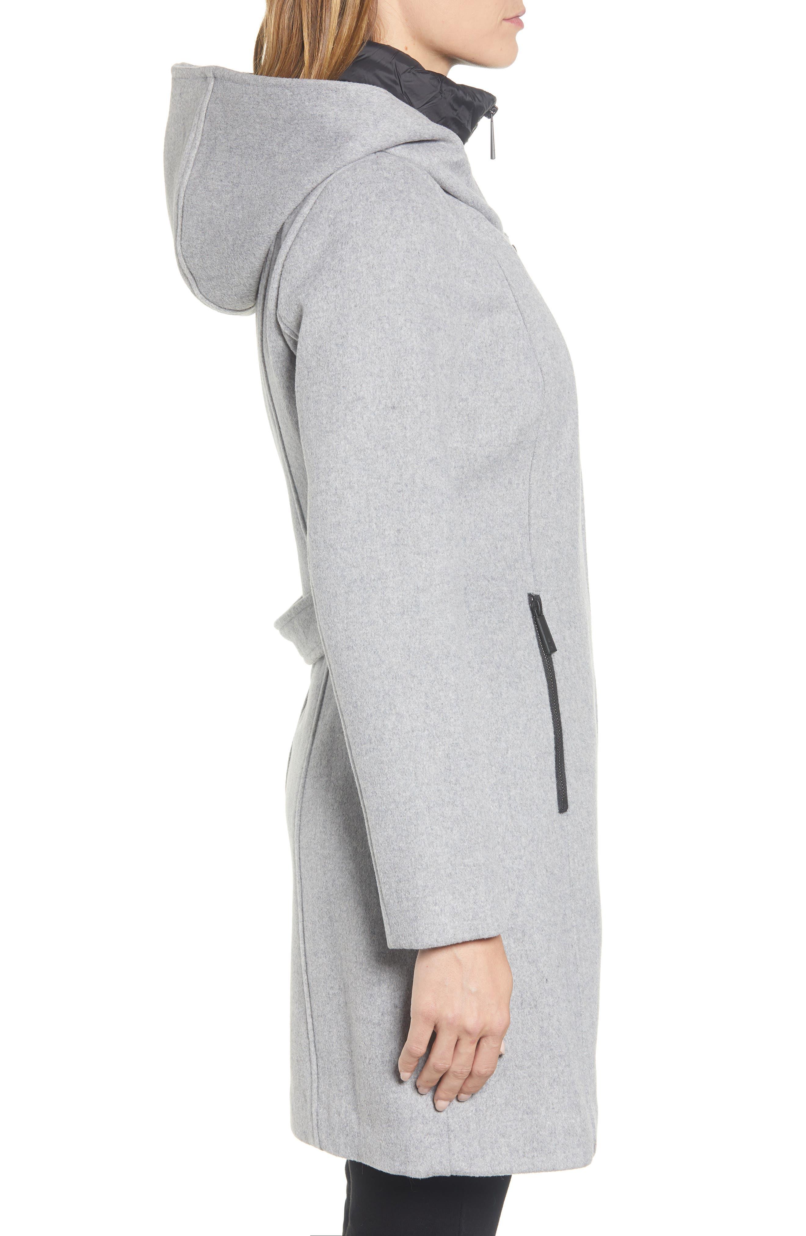 Hooded Twill Coat,                             Alternate thumbnail 3, color,                             033