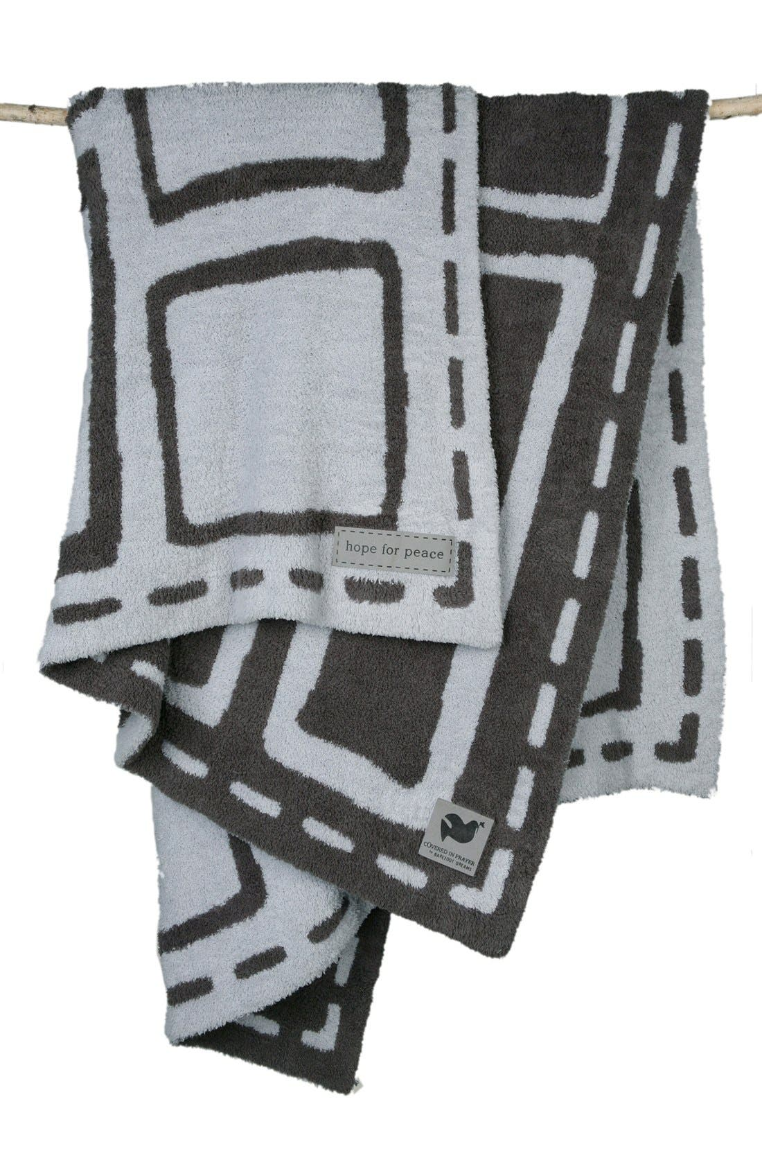 BAREFOOT DREAMS<SUP>®</SUP>,                             'Covered in Prayer' Throw,                             Main thumbnail 1, color,                             020