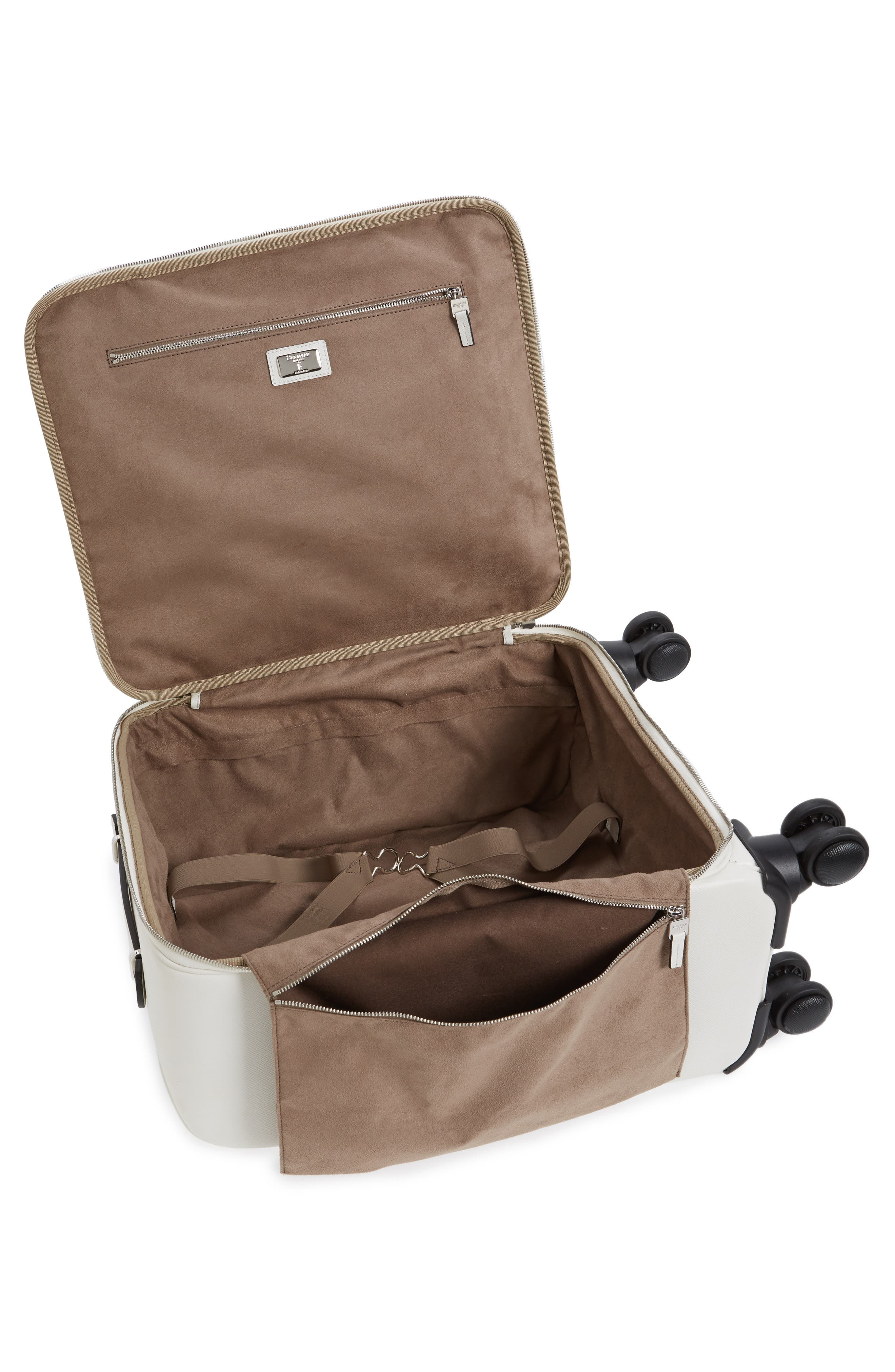 Trolley Spinner Wheeled Carry-On Suitcase,                             Alternate thumbnail 6, color,