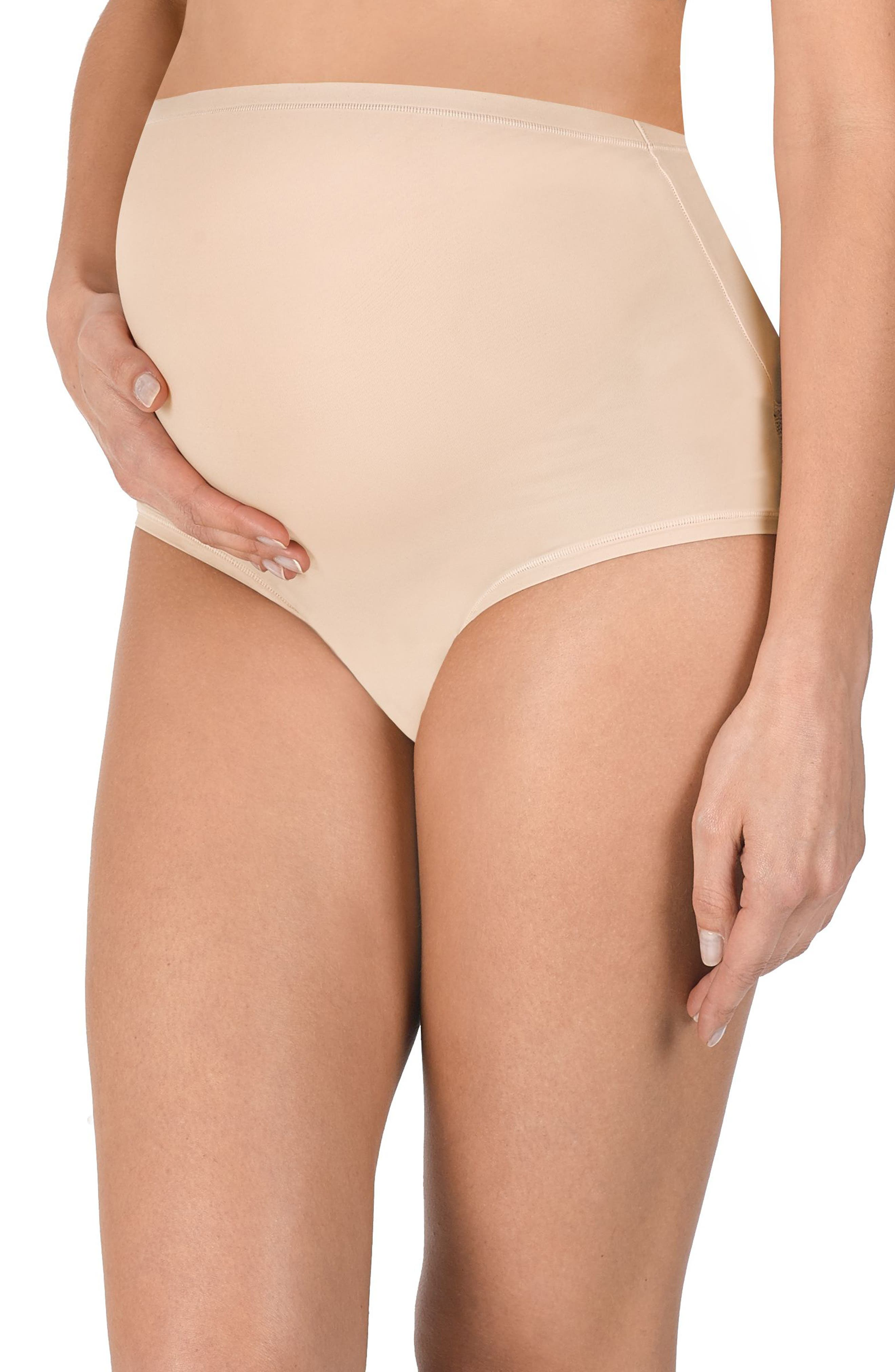 Bliss Maternity Briefs,                             Main thumbnail 1, color,                             CAMEO ROSE
