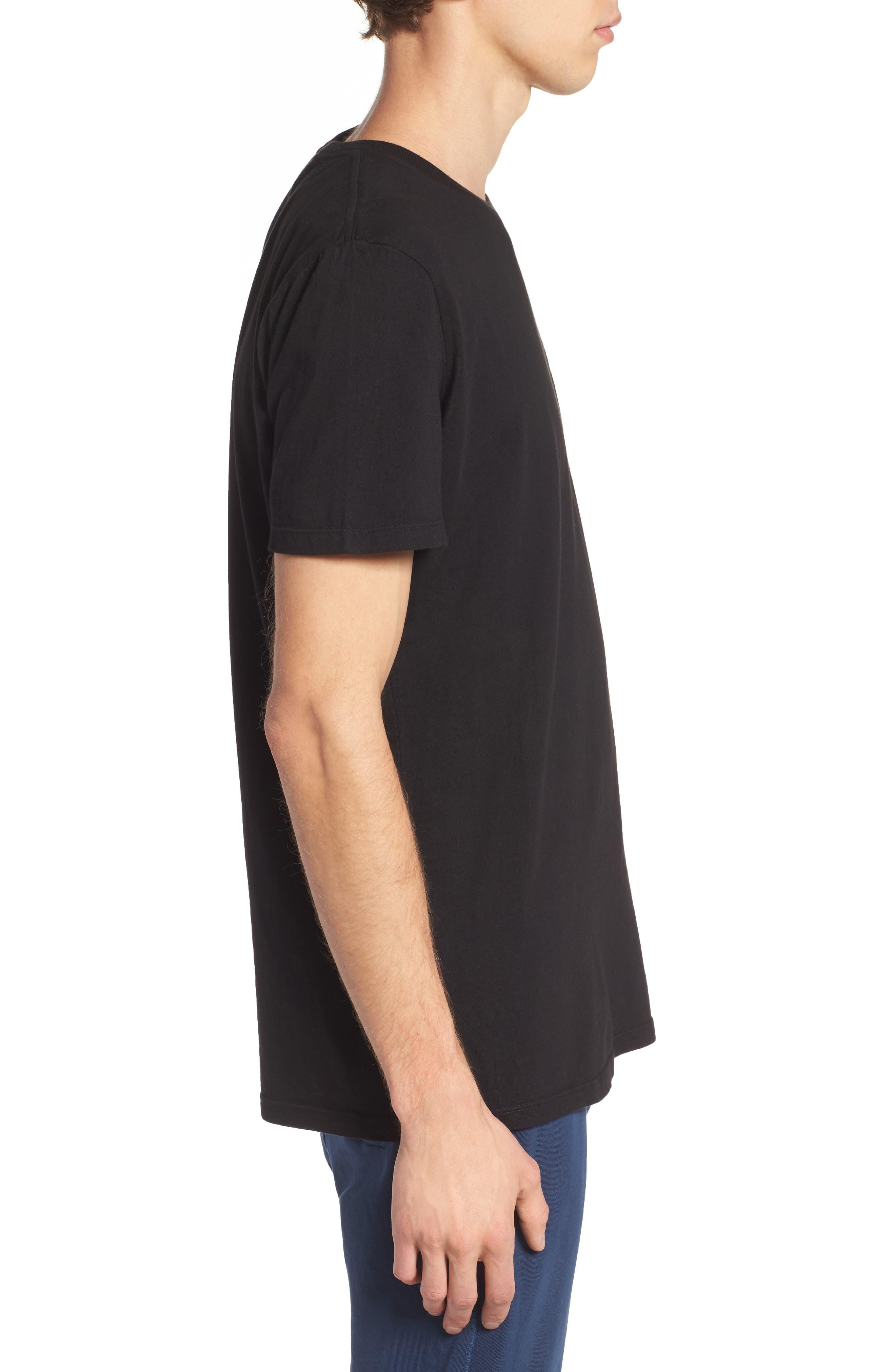 Lounge Pocket T-Shirt,                             Alternate thumbnail 3, color,                             BLACK