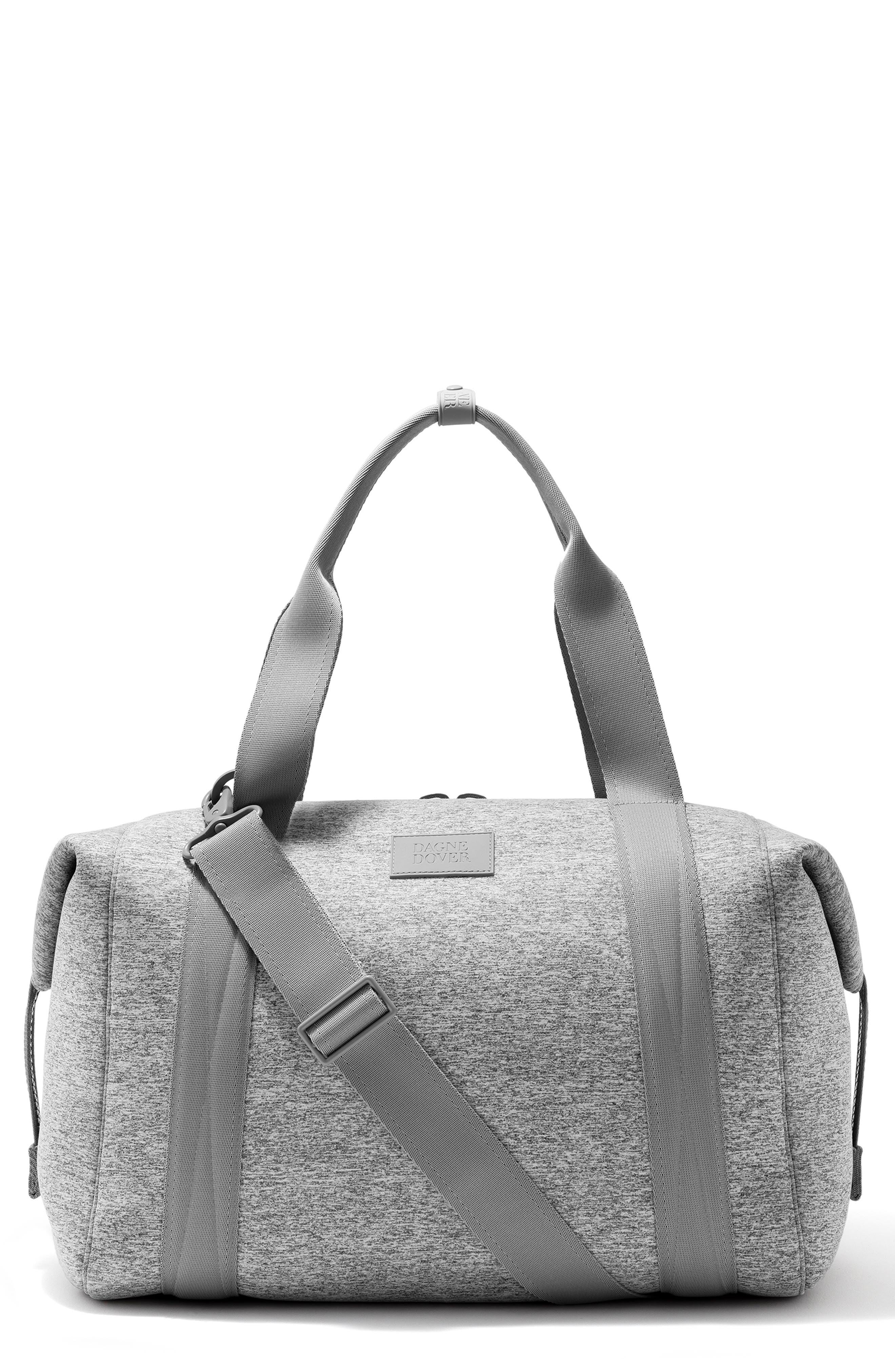 DAGNE DOVER 365 Large Landon Neoprene Carryall Duffel Bag - Grey in Heather Grey