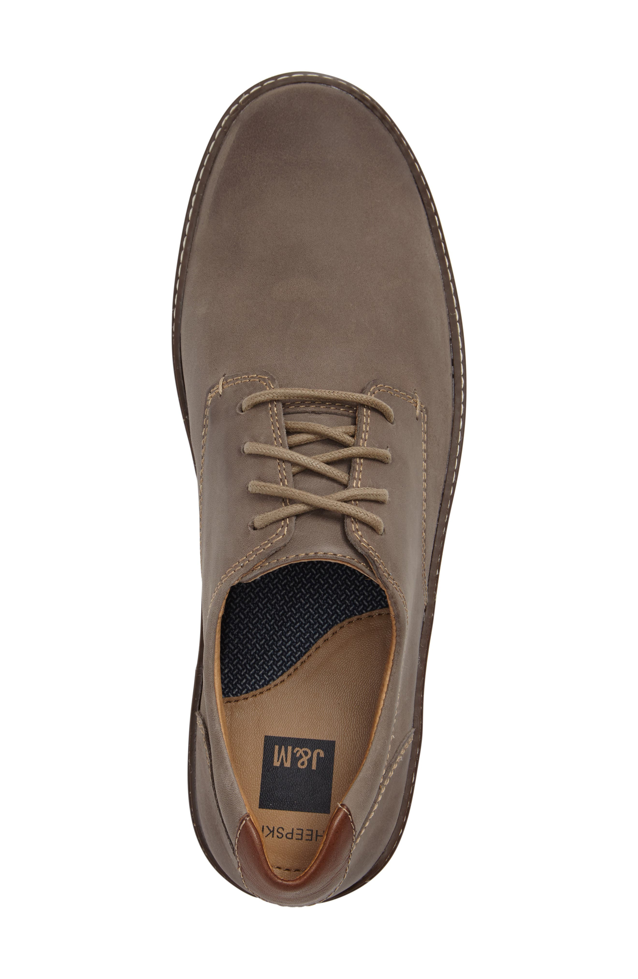 McGuffey Plain Toe Sneaker,                             Alternate thumbnail 3, color,                             GREY NUBUCK LEATHER