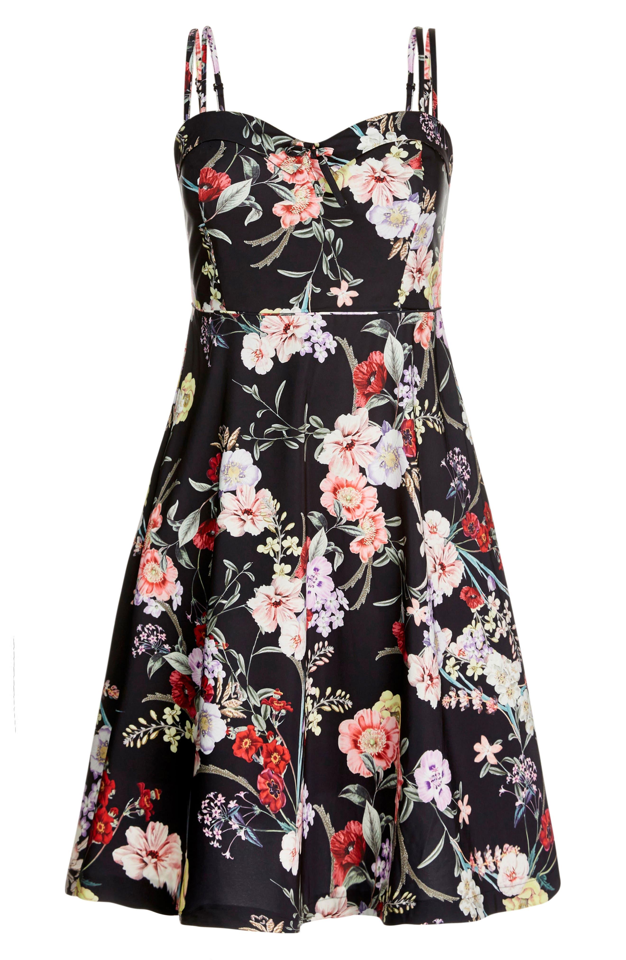 Daytime Diva Fit & Flare Dress,                             Alternate thumbnail 6, color,