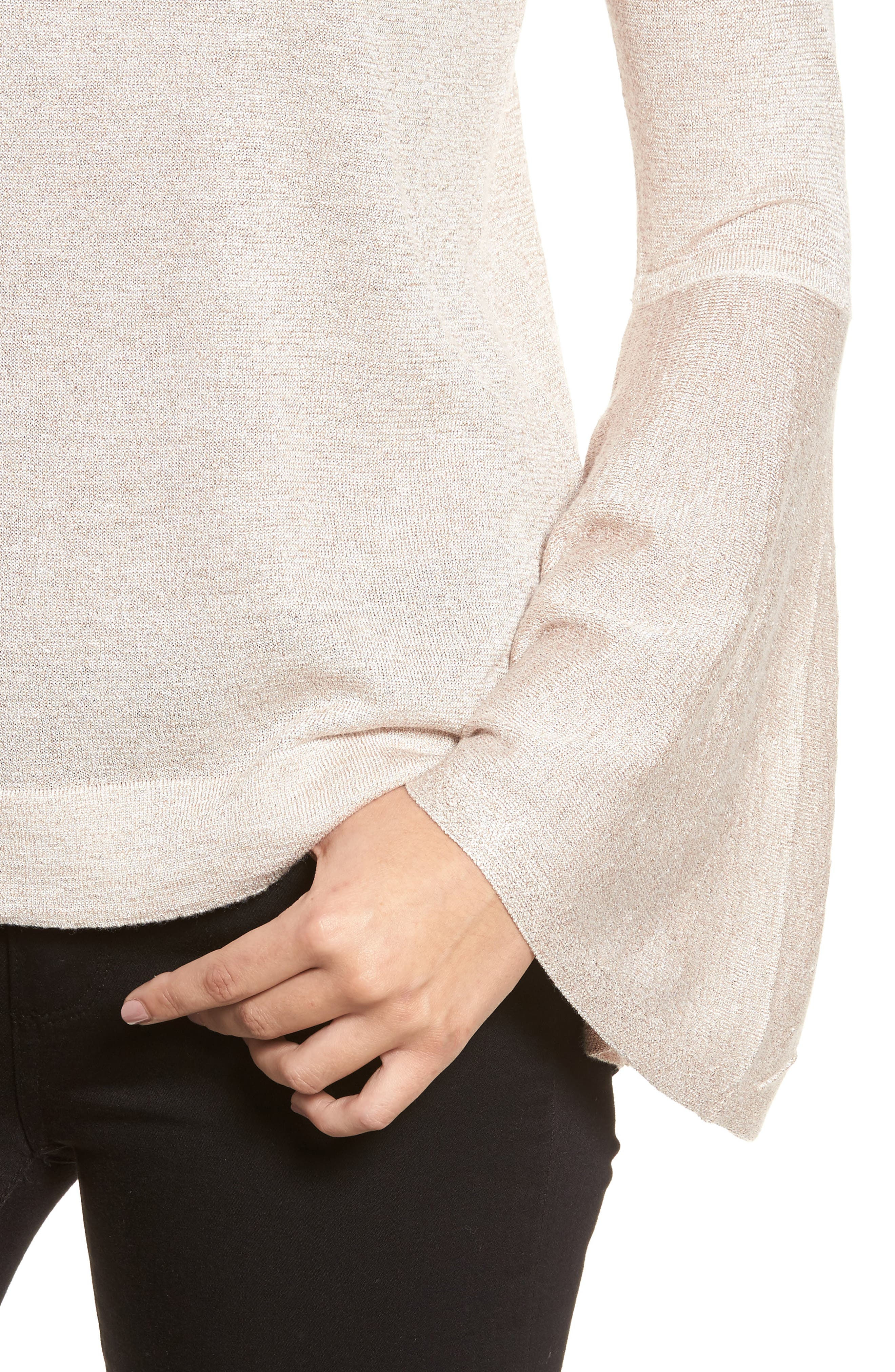 Bell Sleeve Sweater,                             Alternate thumbnail 17, color,
