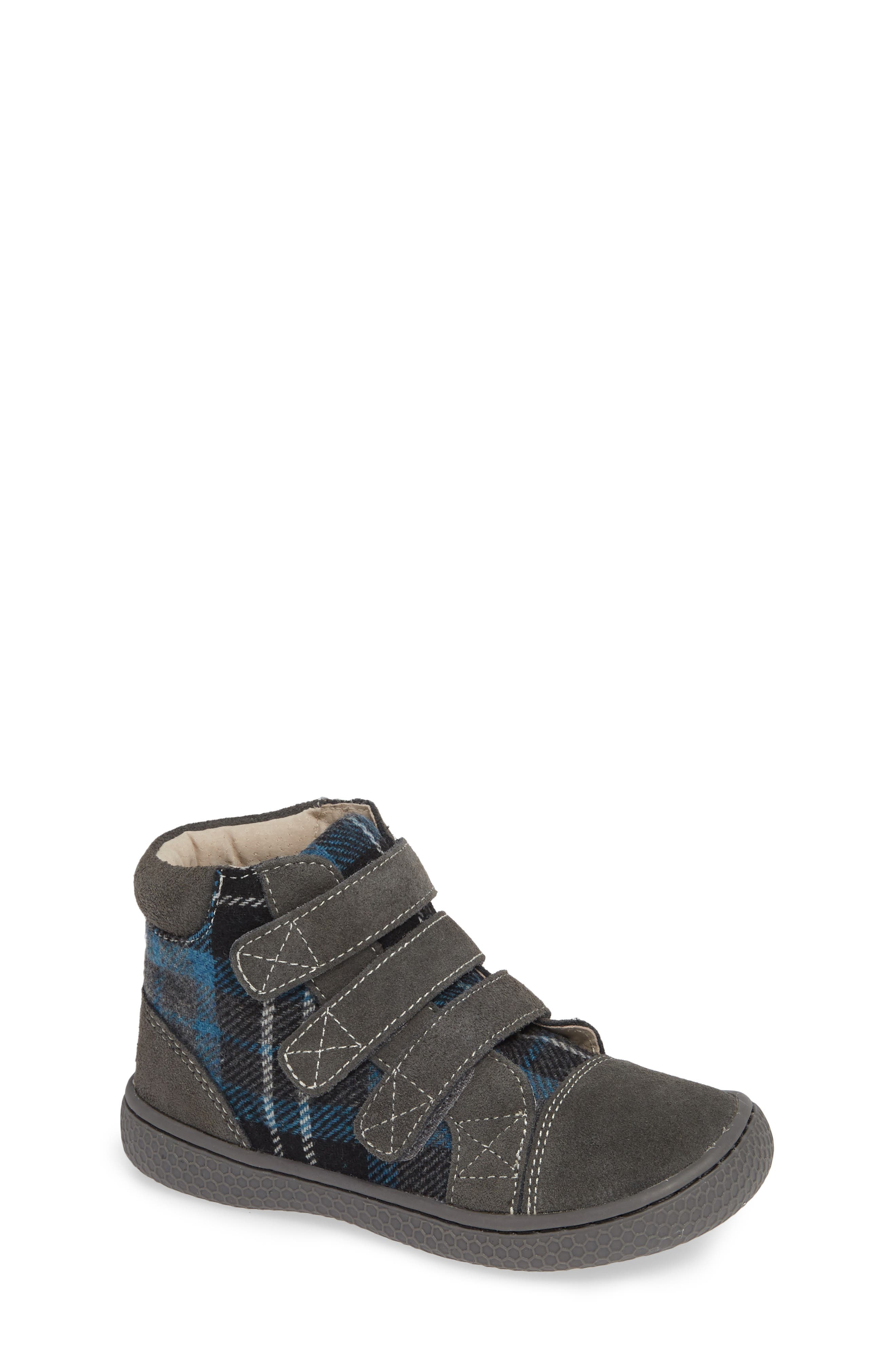 'Jamie' High Top Sneaker,                             Main thumbnail 1, color,                             GRAY PLAID
