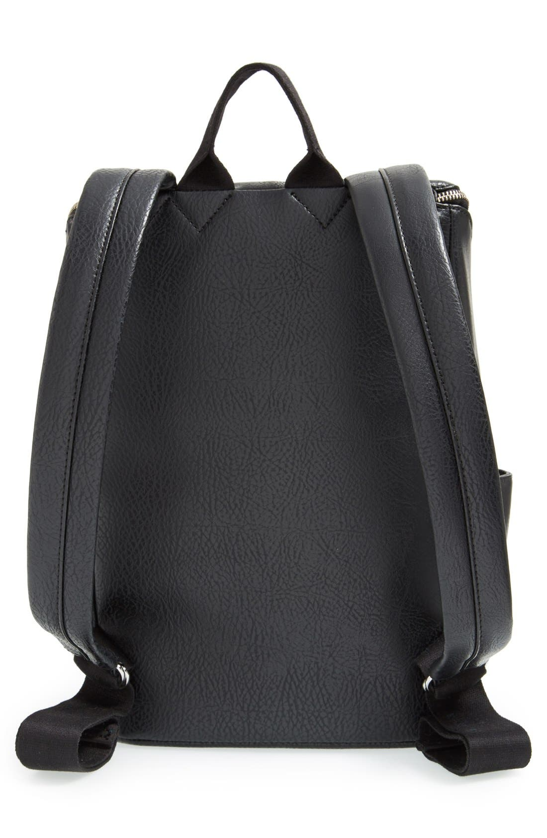 'Brave' Faux Leather Backpack,                             Alternate thumbnail 63, color,