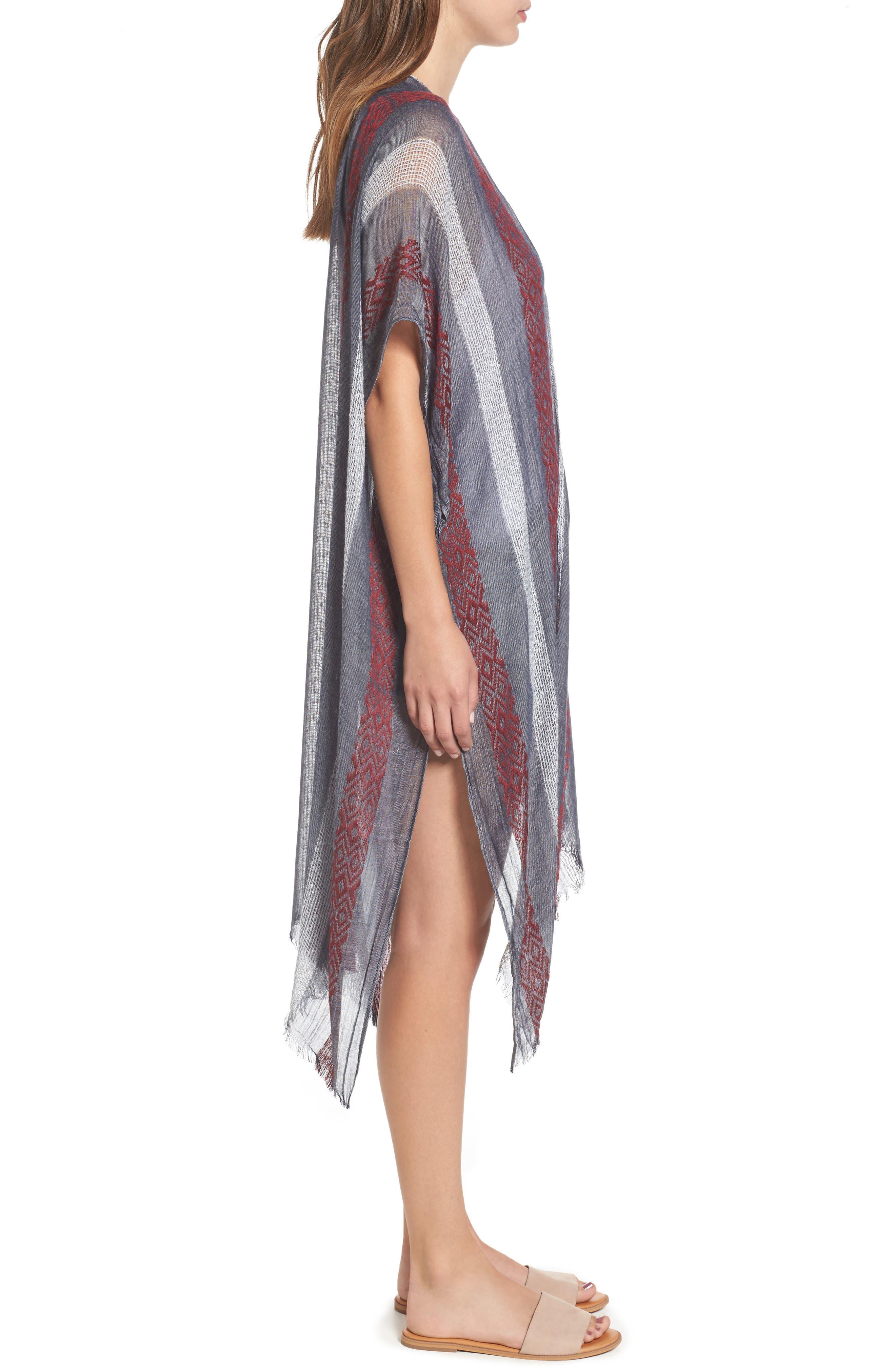 Knit Duster Kimono,                             Alternate thumbnail 3, color,                             020