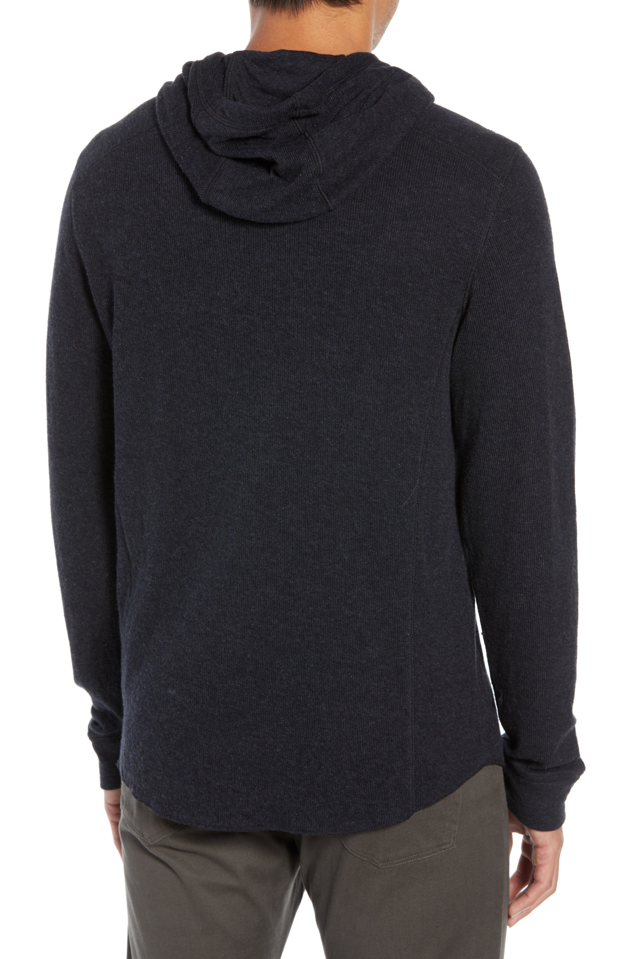 Double Knit Hoodie,                             Alternate thumbnail 2, color,                             H MANHATTAN NAVY