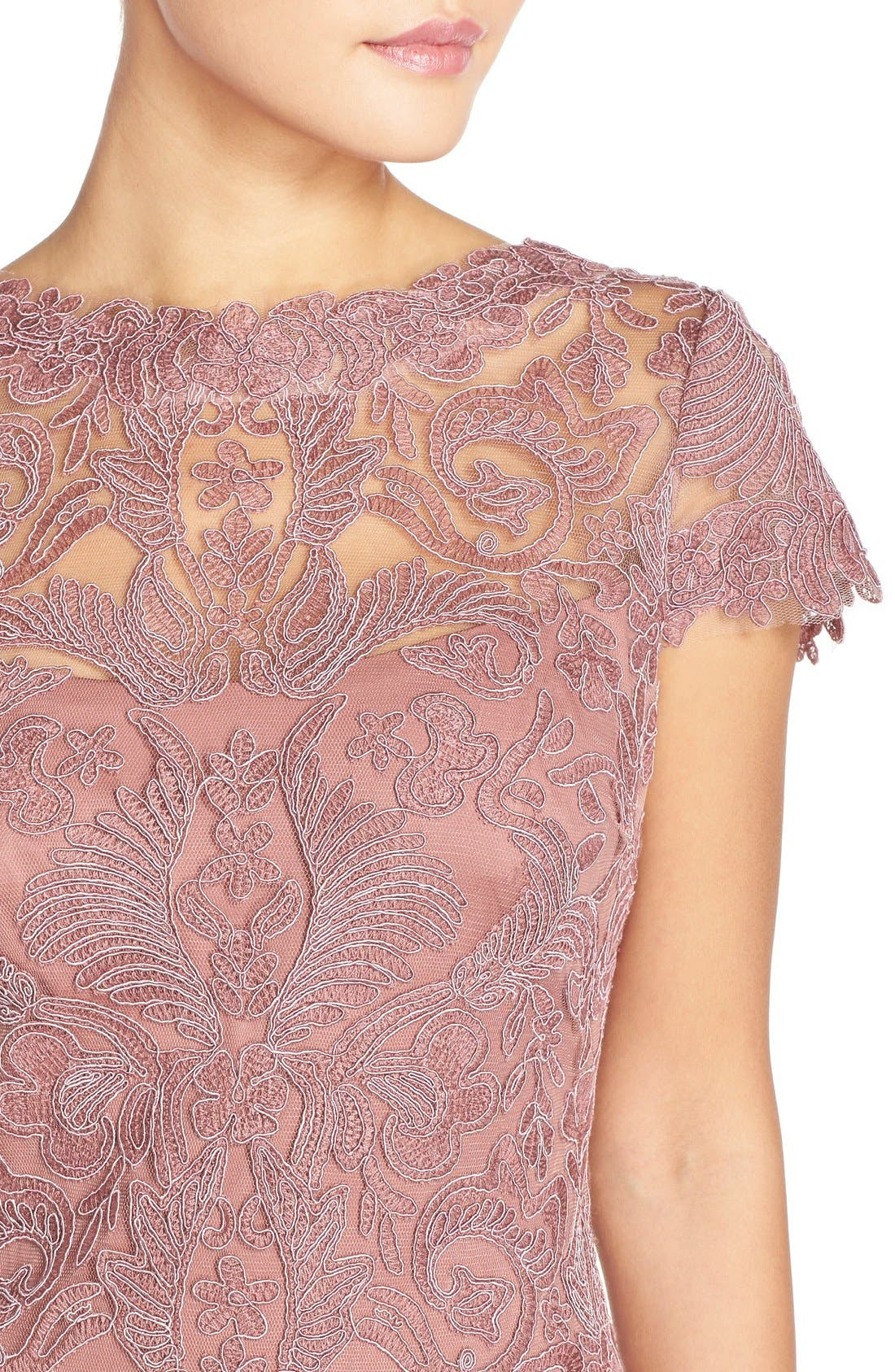 Illusion Yoke Lace Sheath Dress,                             Alternate thumbnail 37, color,