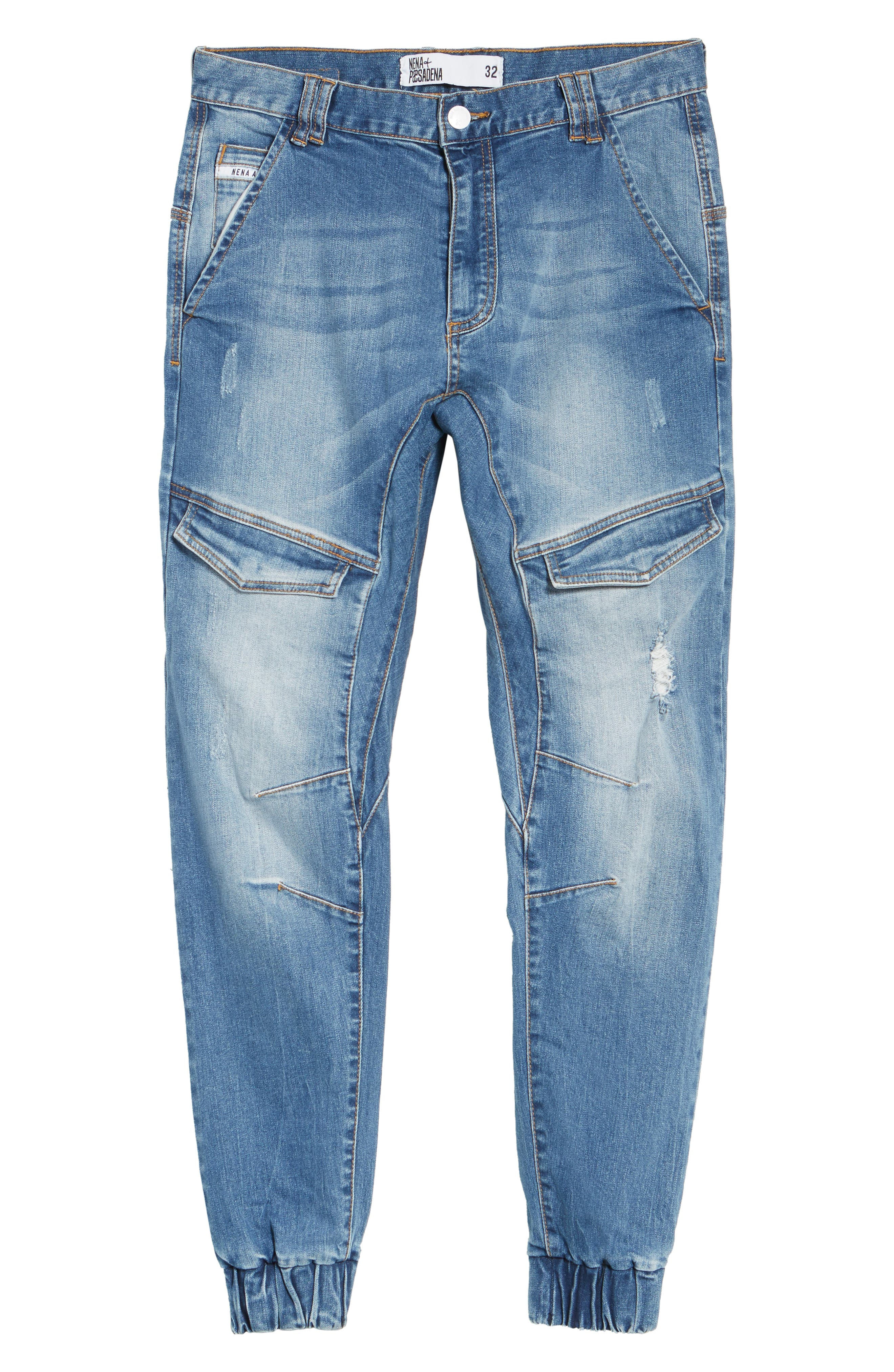 Flight Skinny Denim Jogger Pants,                             Alternate thumbnail 27, color,