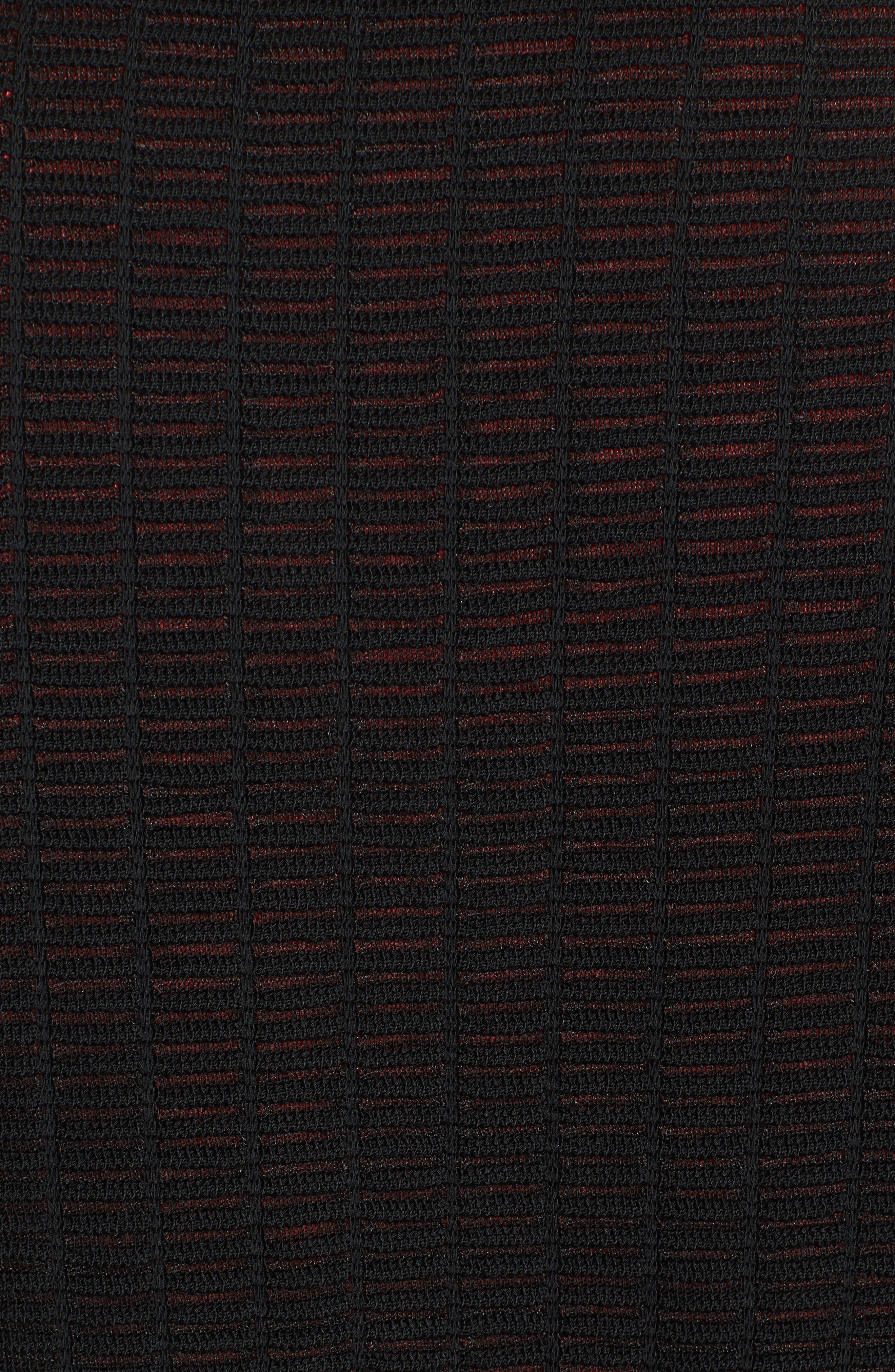 Jacquard Jacket,                             Alternate thumbnail 7, color,                             BLACK