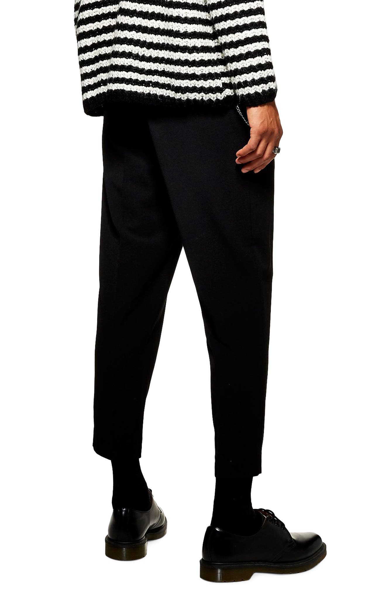 Tapered Trousers,                             Alternate thumbnail 2, color,                             BLACK