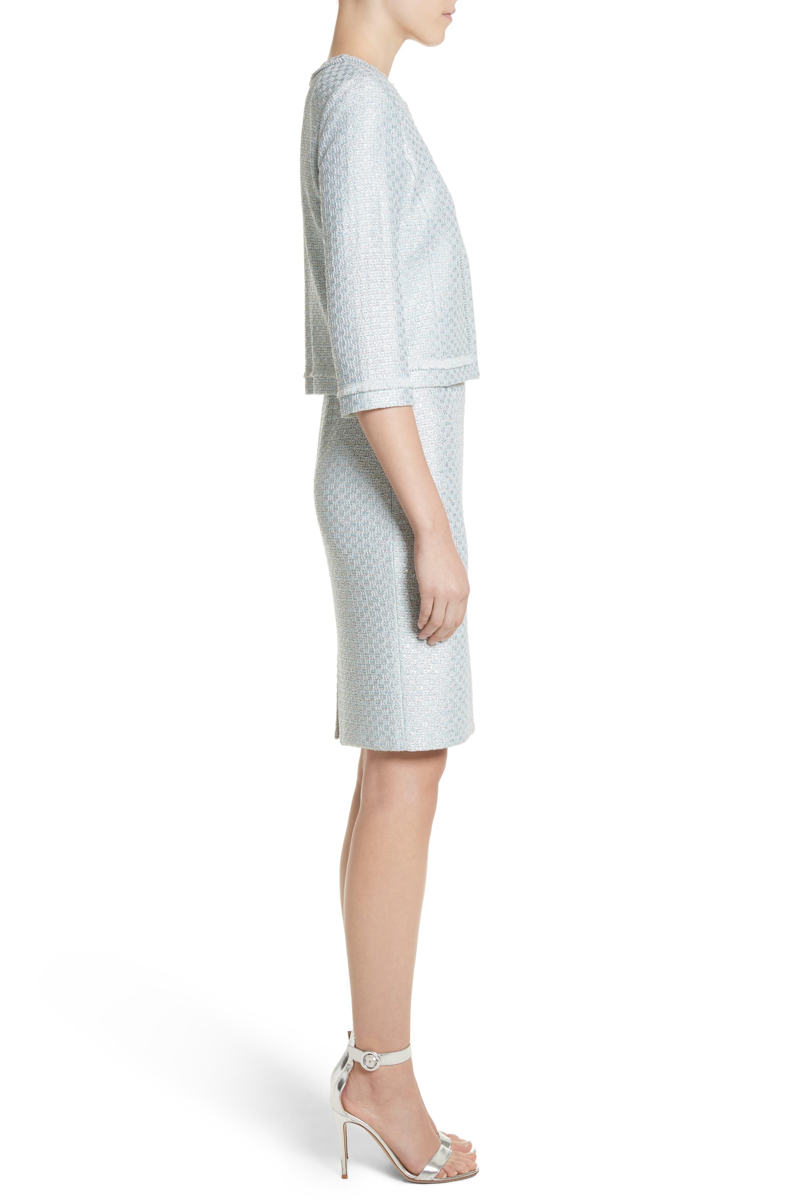 Hansh Sequin Knit Jacket,                             Alternate thumbnail 3, color,                             440