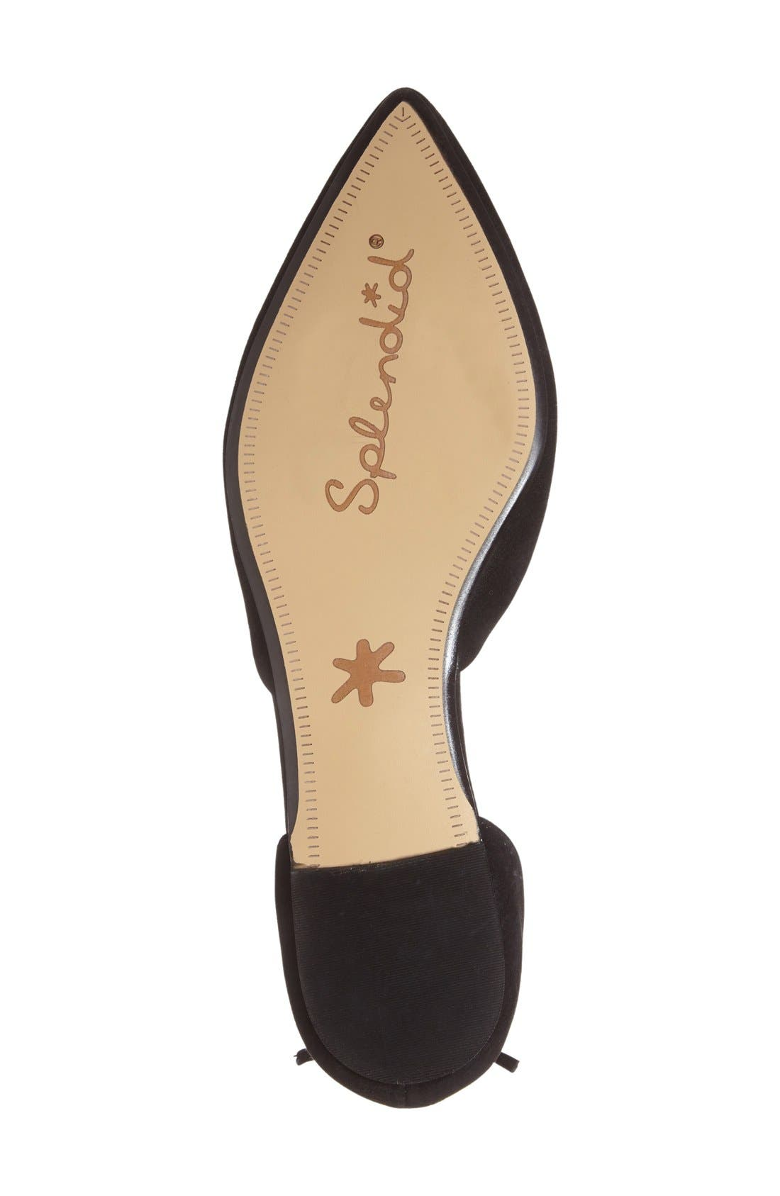 'Annabelle' Lace-Up d'Orsay Flat,                             Alternate thumbnail 3, color,                             001