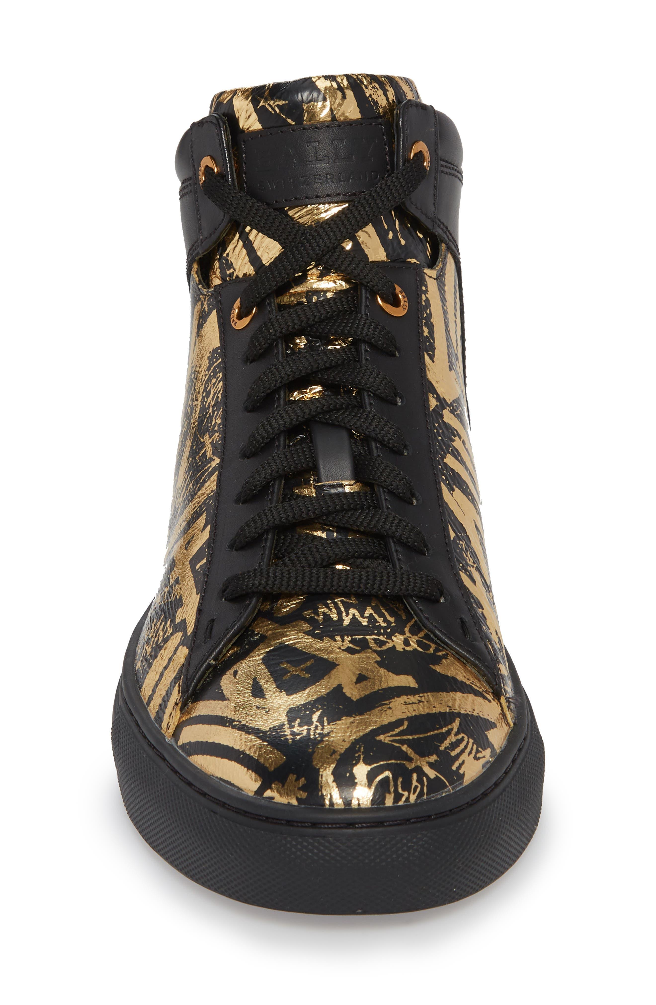 Hedo High Top Sneaker,                             Alternate thumbnail 4, color,                             GOLD