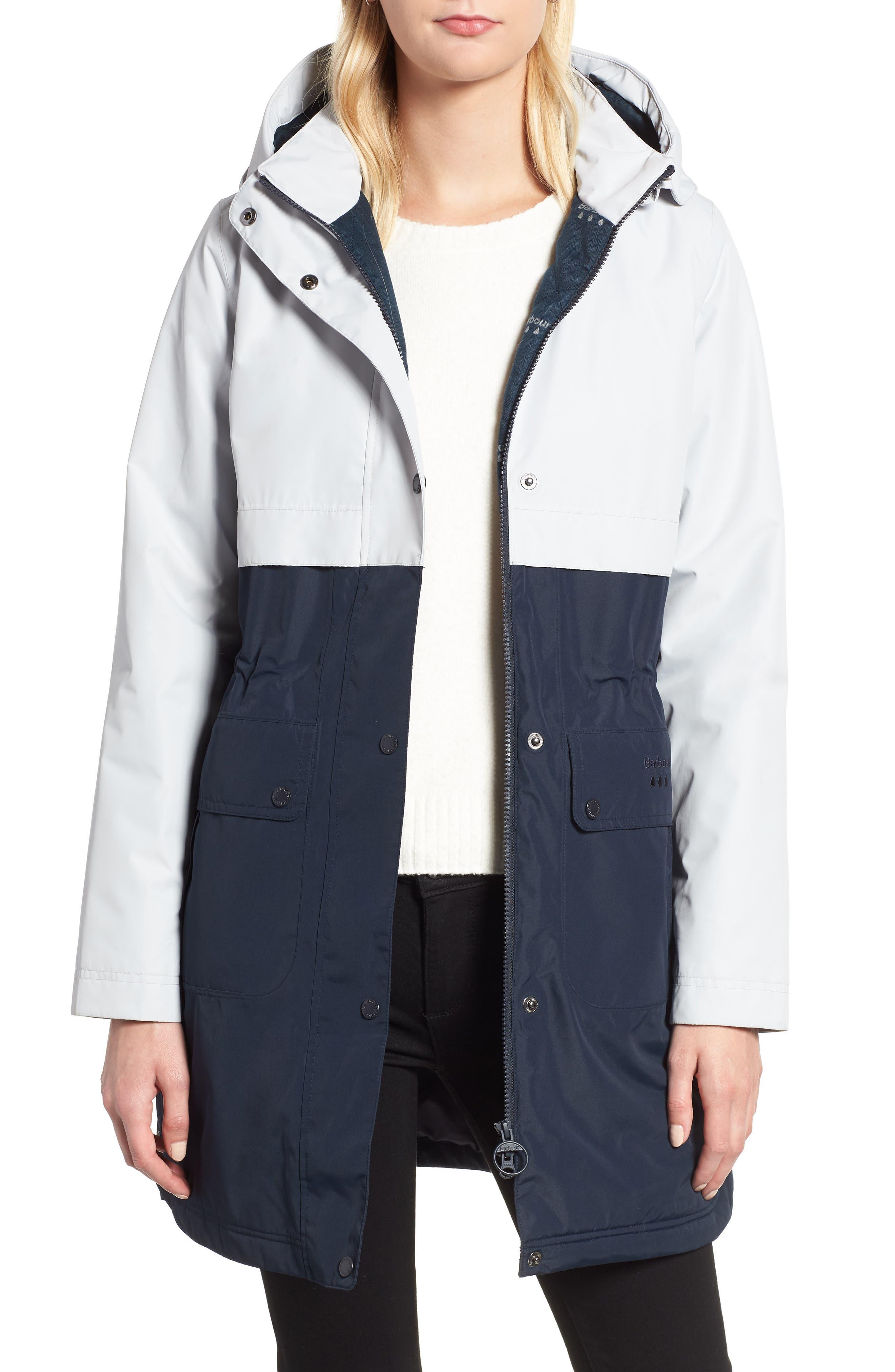 Barbour Damini Waterproof Jacket, US / 8 UK - Blue