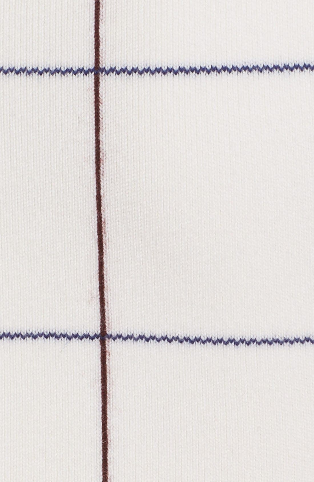 Victoria Beckham Intarsia Check Sheath Dress,                             Alternate thumbnail 3, color,                             100