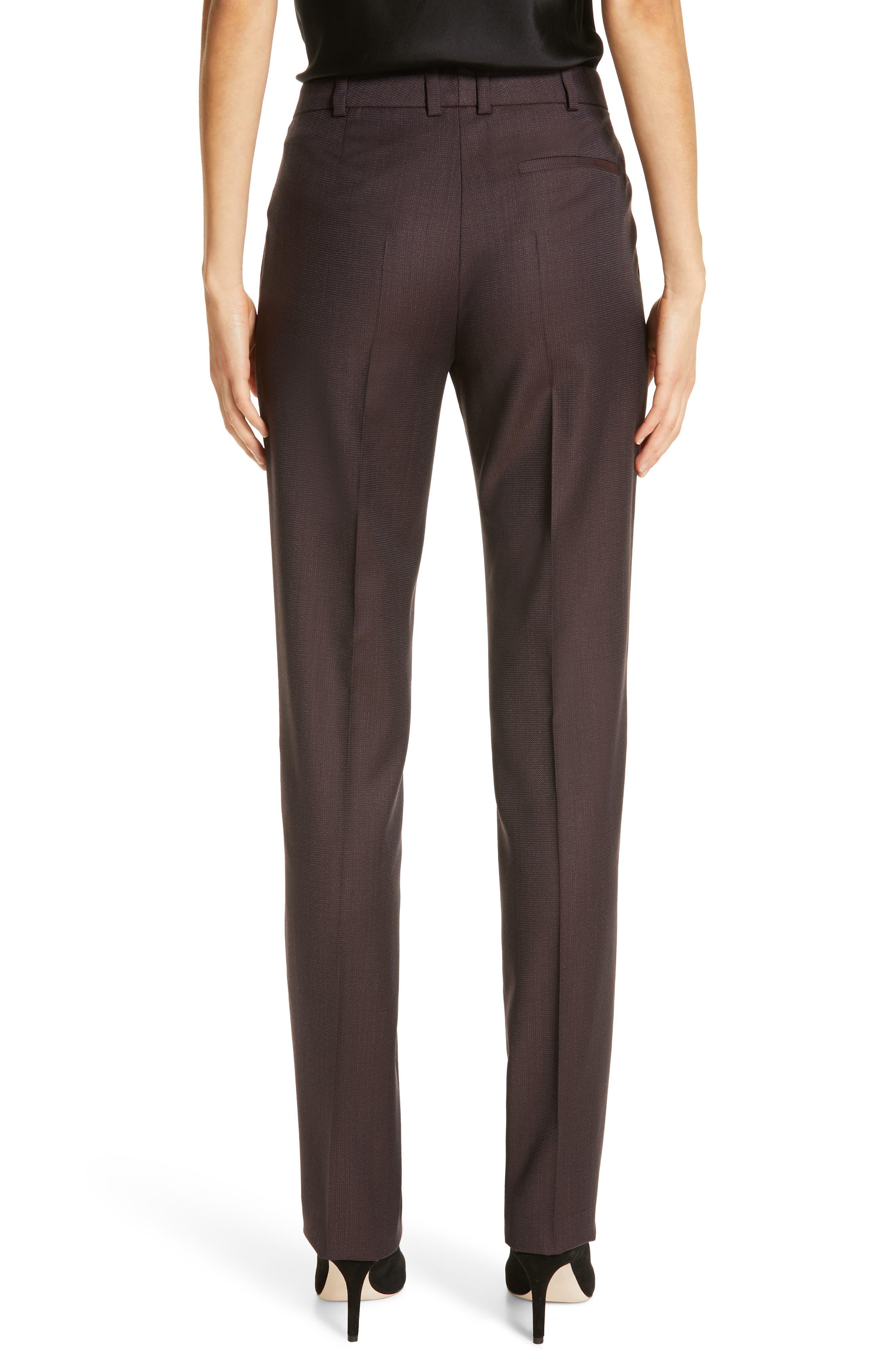 Tamea Slim Wool Suit Pants,                             Alternate thumbnail 2, color,                             DARK BERRY FANTASY