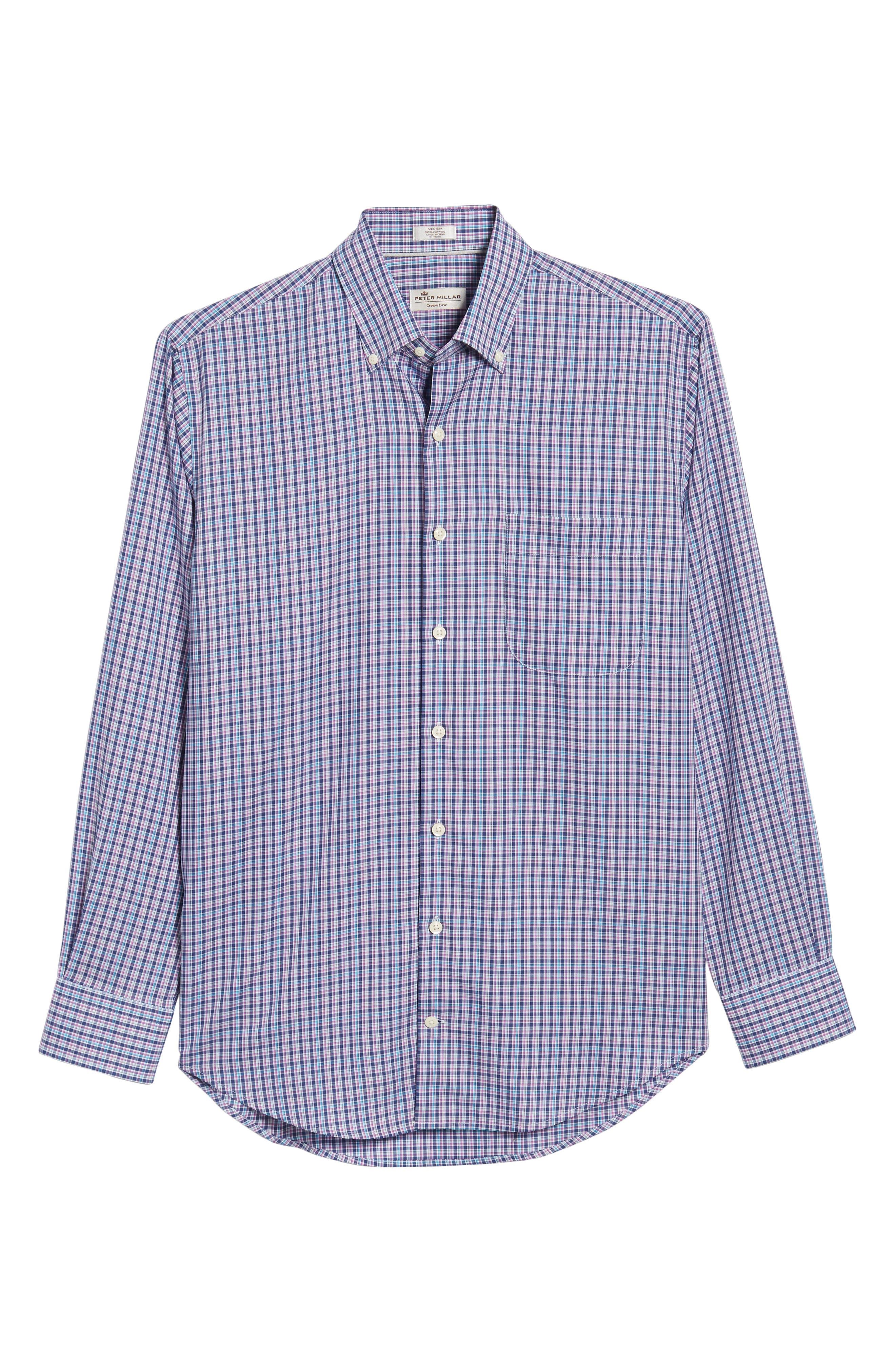 PETER MILLAR,                             Crown Ease Kaci Plaid Sport Shirt,                             Alternate thumbnail 6, color,                             400