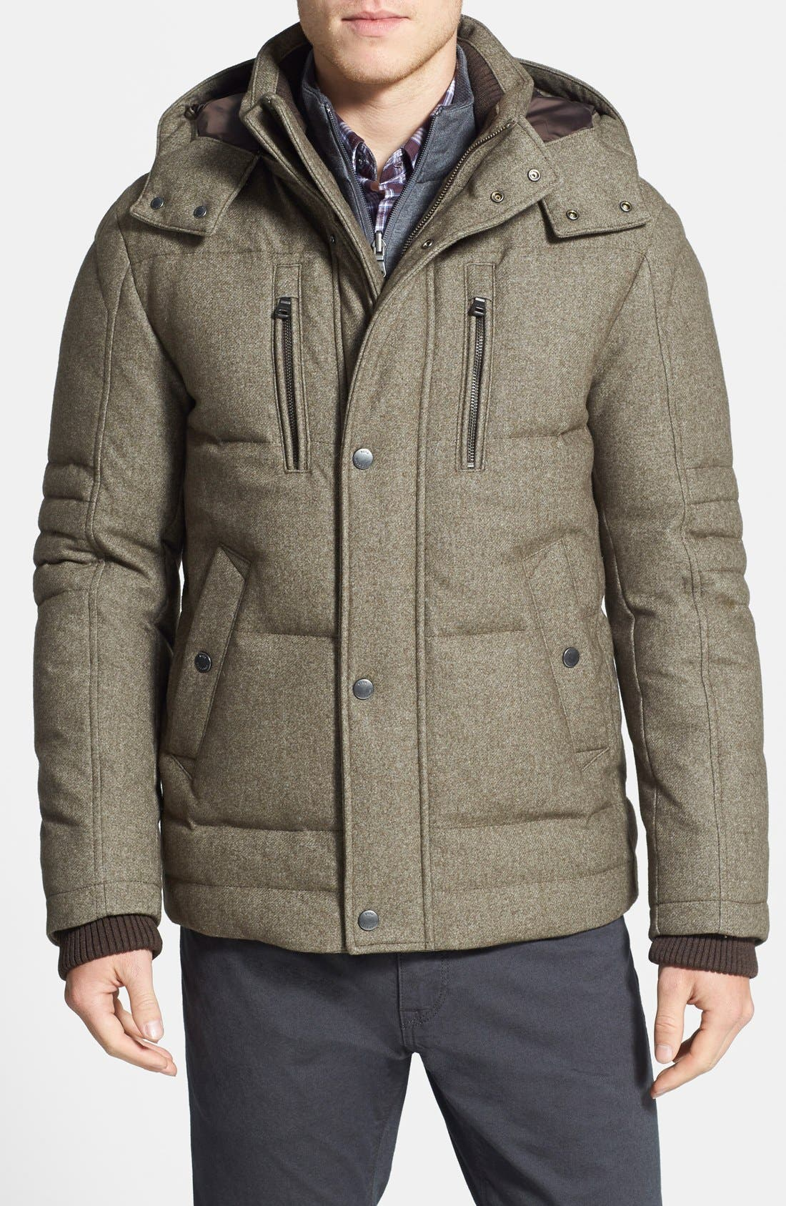 HUGO BOSS 'Dery' Quilted Down Coat,                             Main thumbnail 1, color,                             245