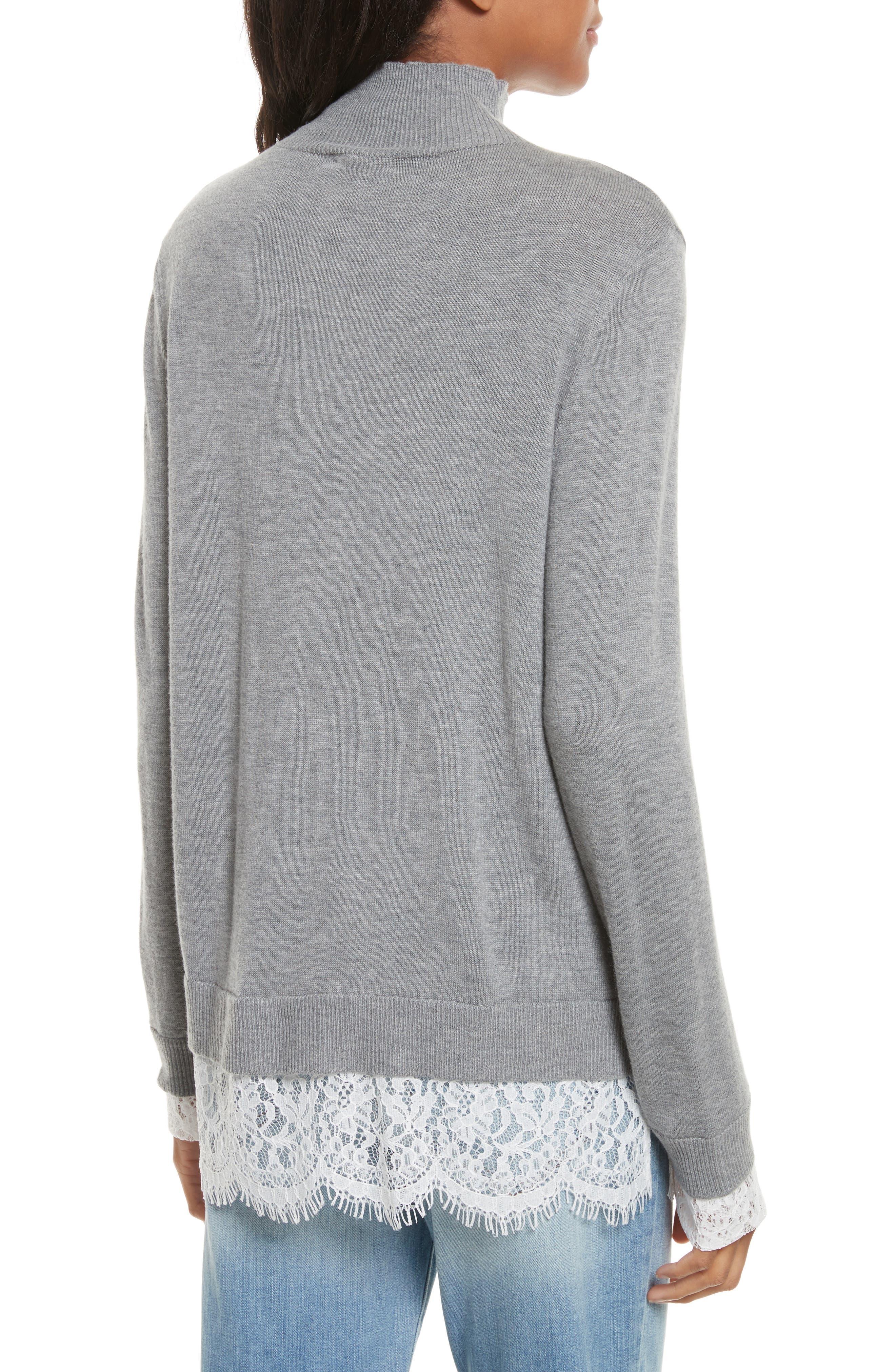 Fredrika Lace Inset Sweater,                             Alternate thumbnail 2, color,                             071