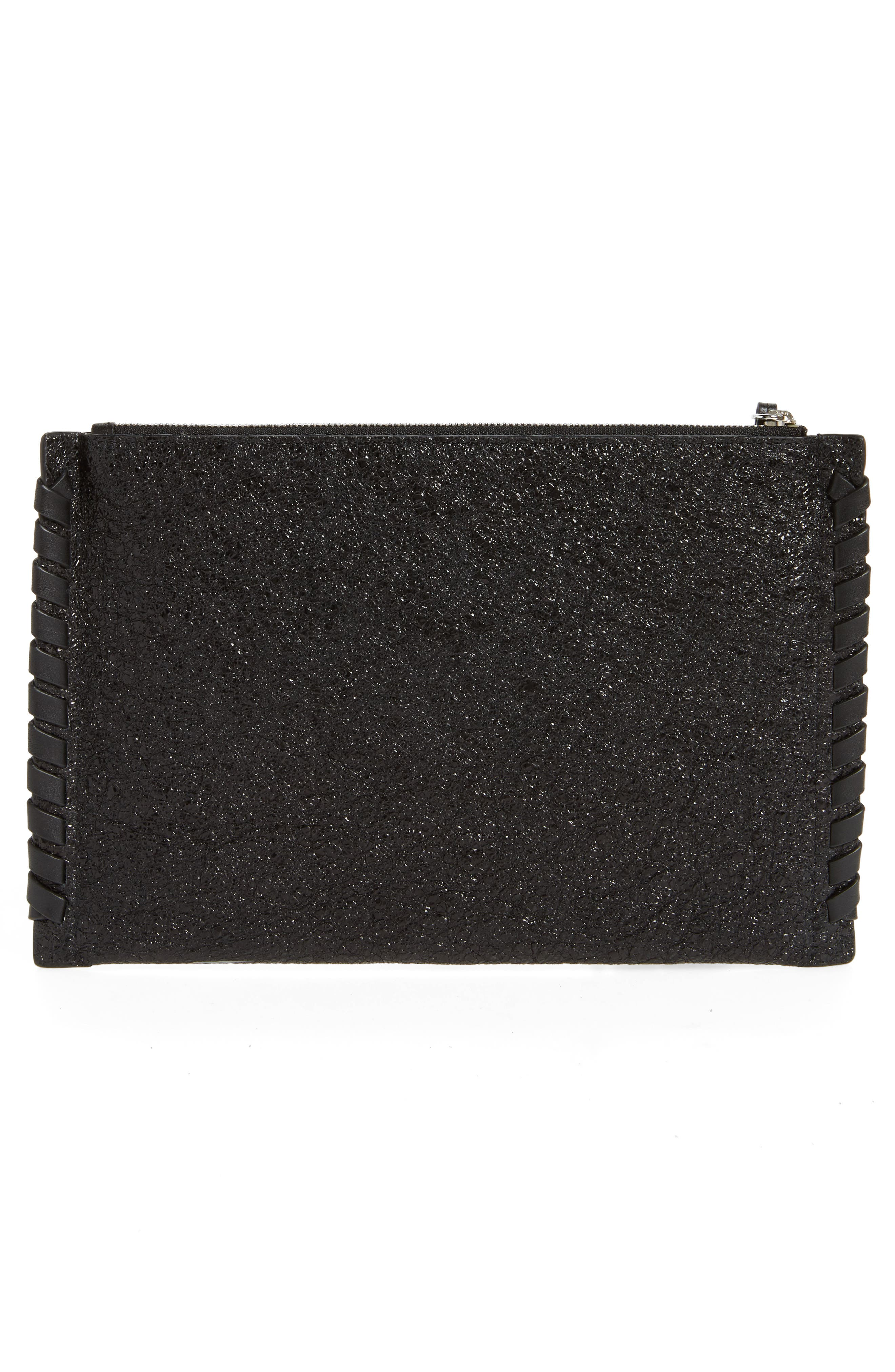 Kepi Leather Zip Pouch,                             Alternate thumbnail 3, color,