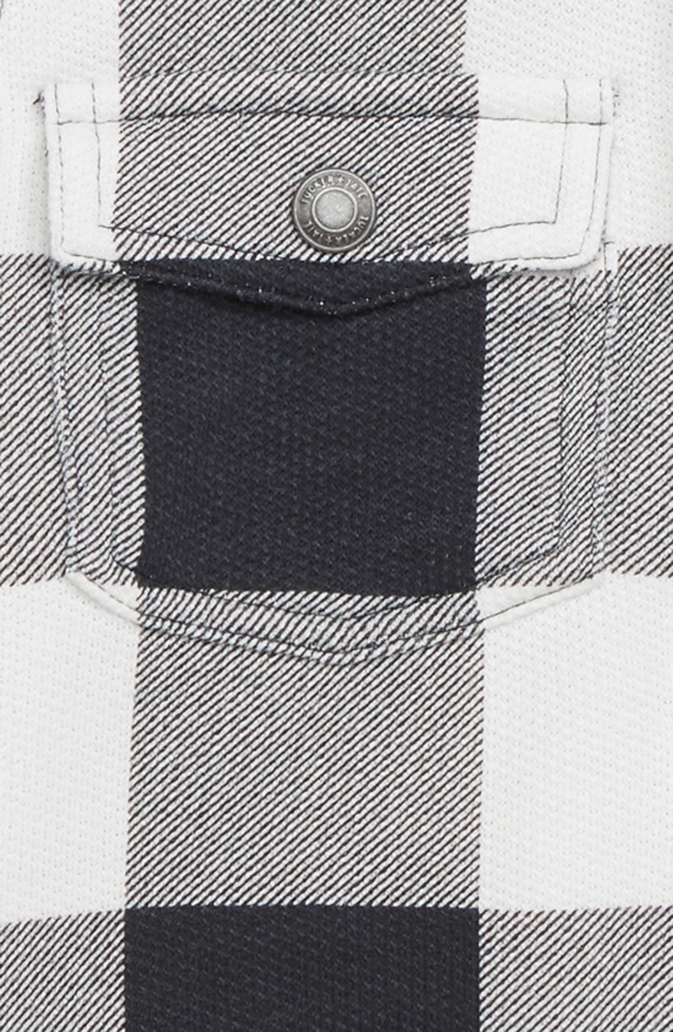 Buffalo Check Hooded Shirt,                             Alternate thumbnail 2, color,                             WHITE- BLACK GINGHAM