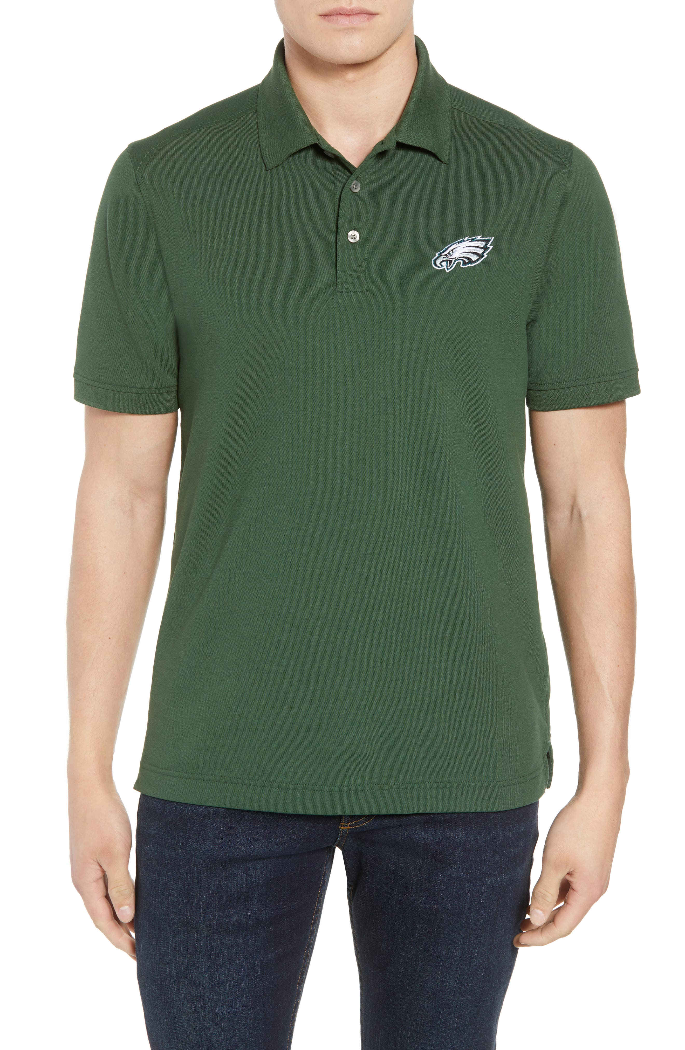 Philadelphia Eagles - Advantage Regular Fit DryTec Polo,                             Main thumbnail 1, color,                             HUNTER GREEN