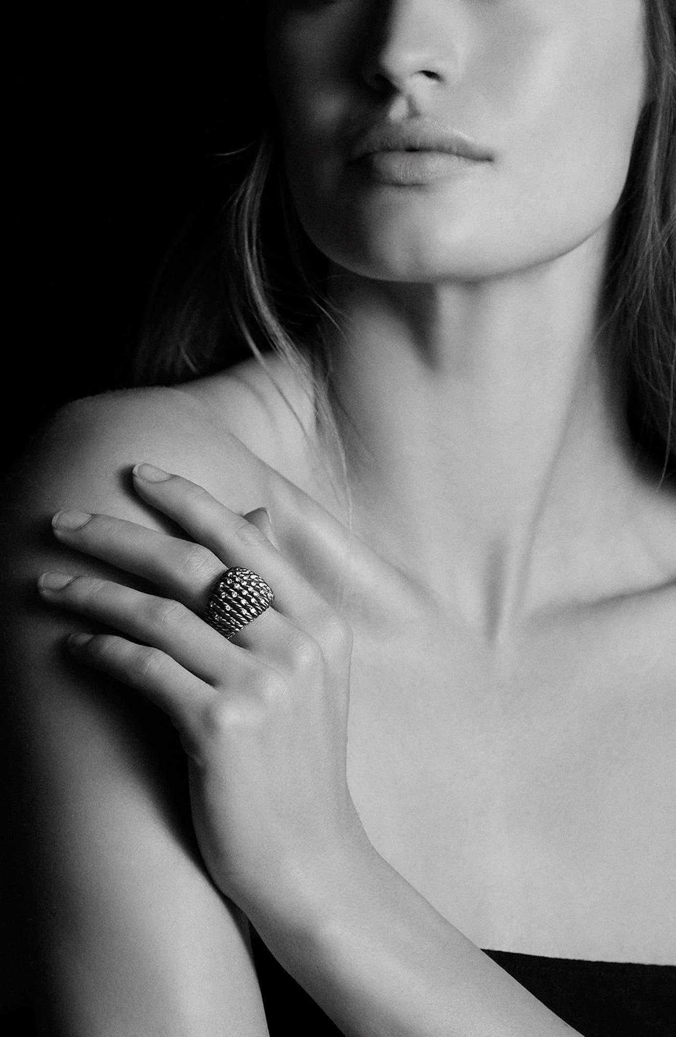 'Tempo' Ring with Diamonds,                             Alternate thumbnail 2, color,                             DIAMOND