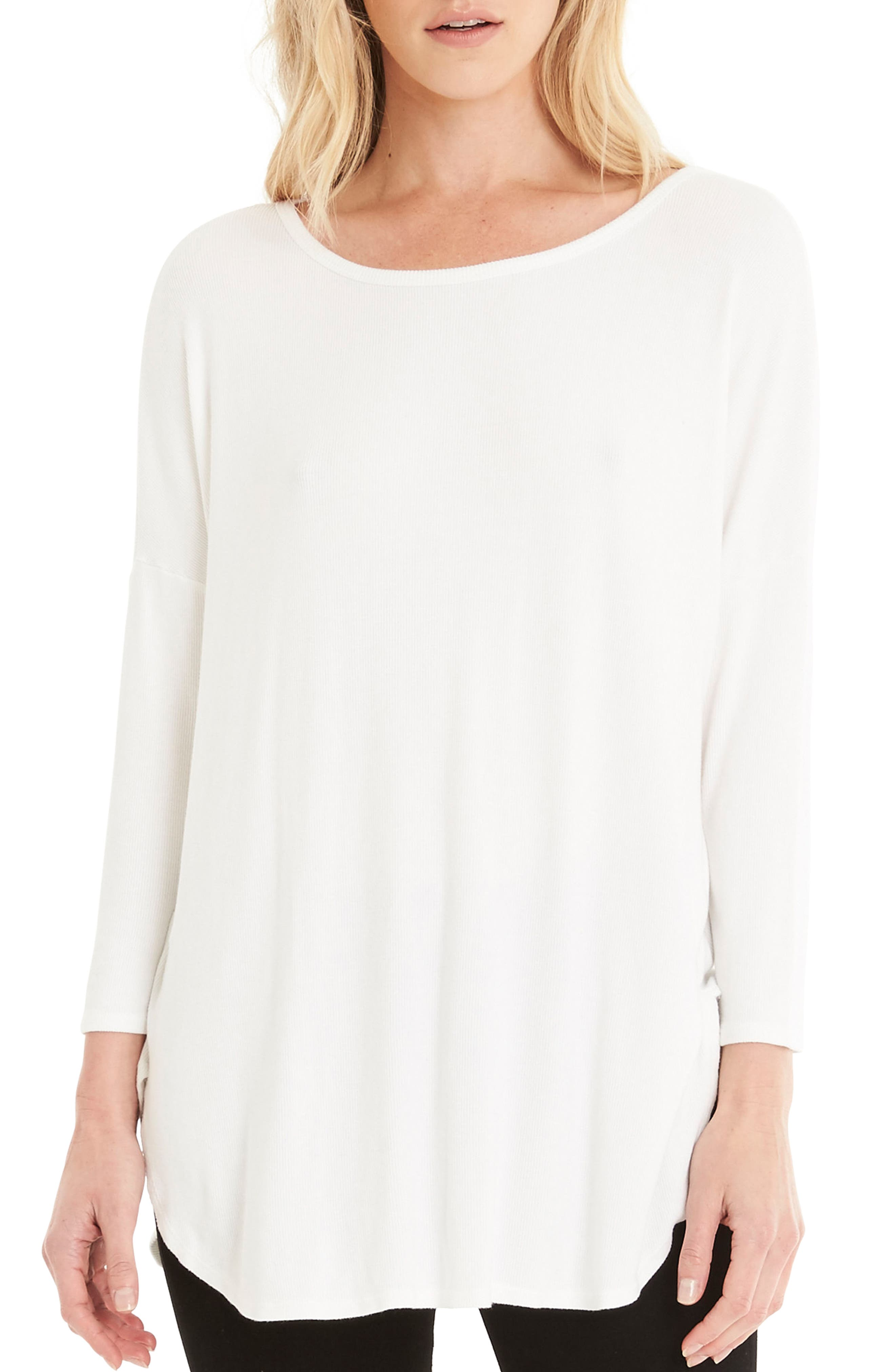 Stretch Knit Tee,                             Main thumbnail 2, color,