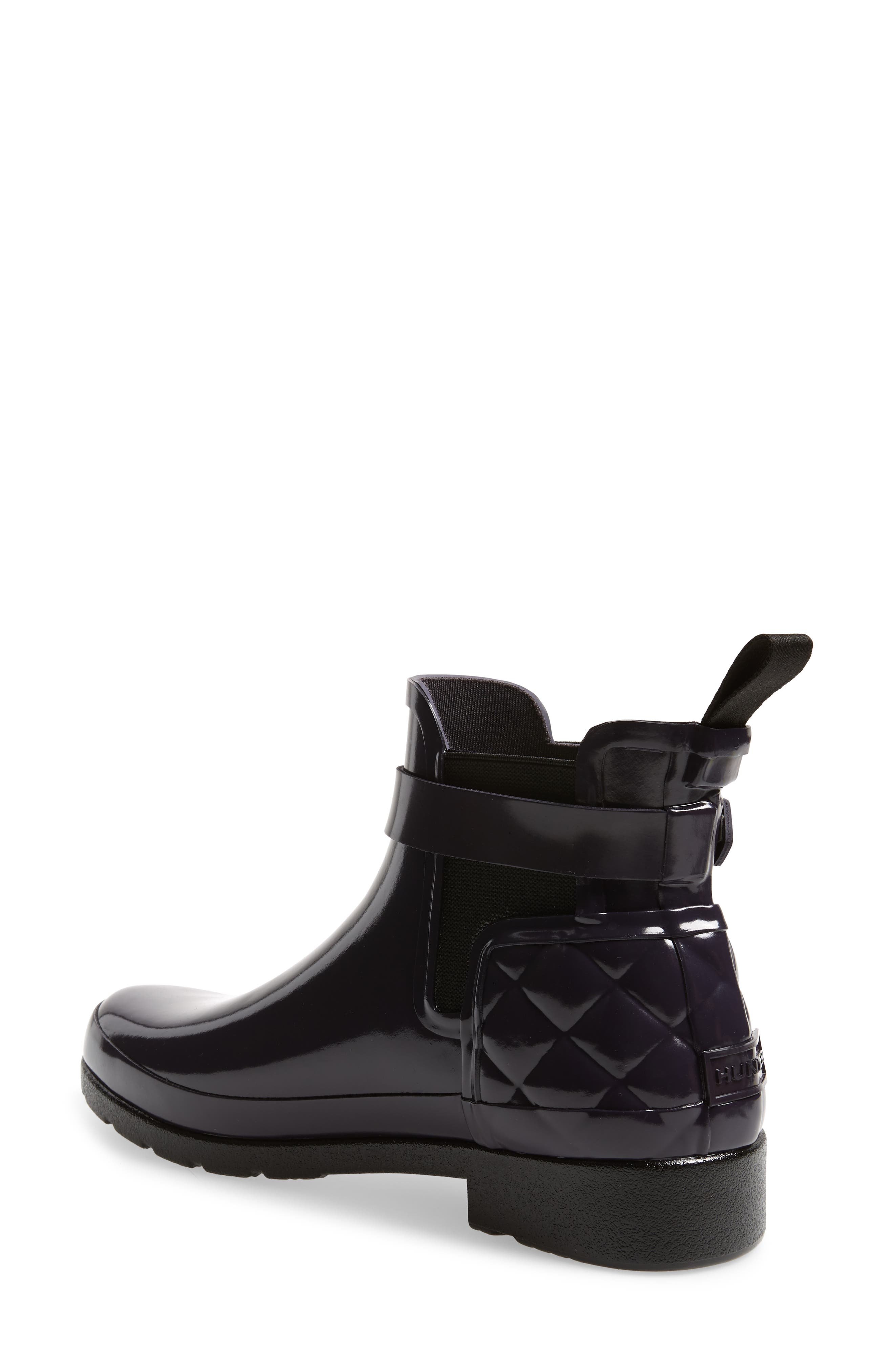 Original Refined Quilted Gloss Chelsea Waterproof Boot,                             Alternate thumbnail 2, color,                             AUBERGINE
