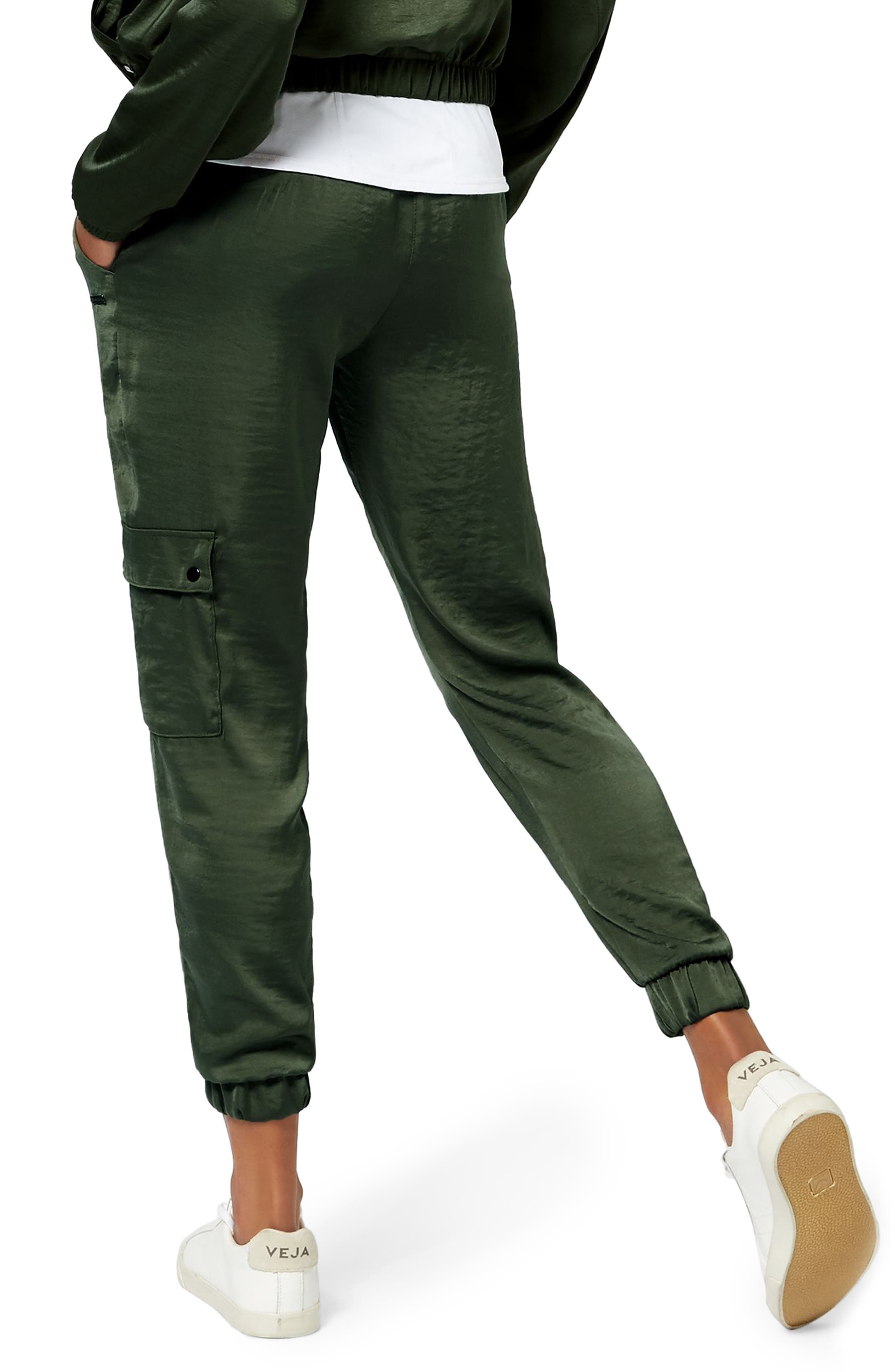 Cargo Luxe Ankle Pants,                             Alternate thumbnail 2, color,                             OLIVE