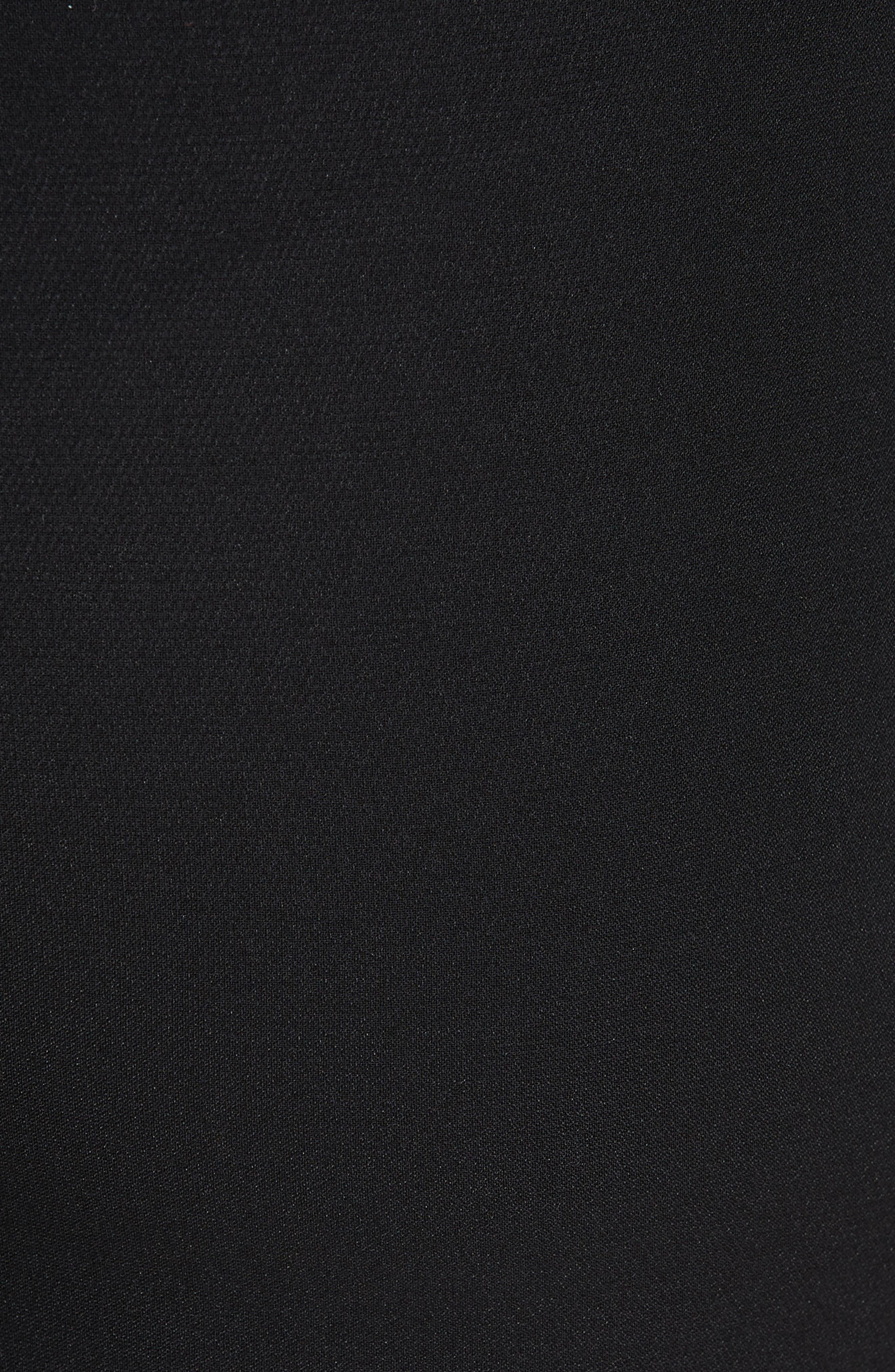 Solid Heavy Georgette Pants,                             Alternate thumbnail 5, color,                             CAVIAR/ WHITE