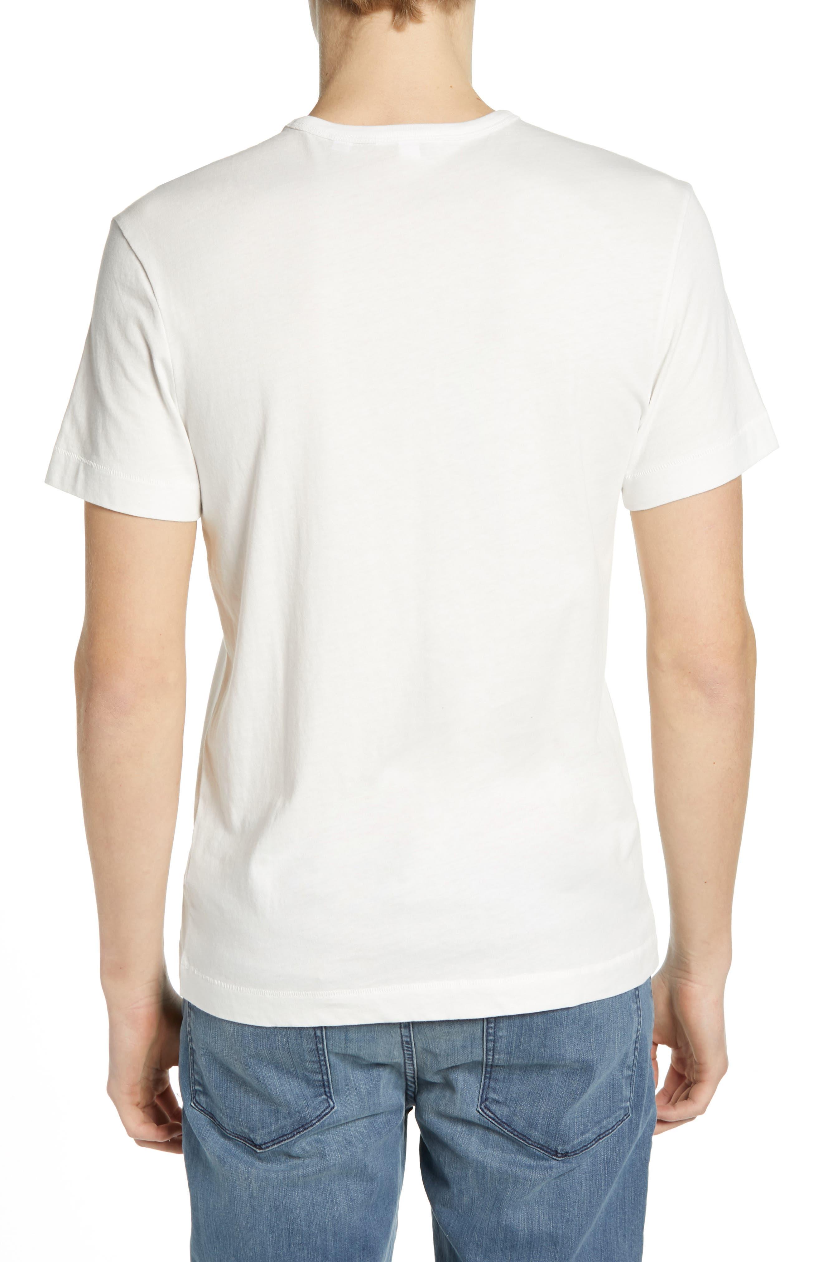 Regular Fit Logo T-Shirt,                             Alternate thumbnail 2, color,                             FLOUR