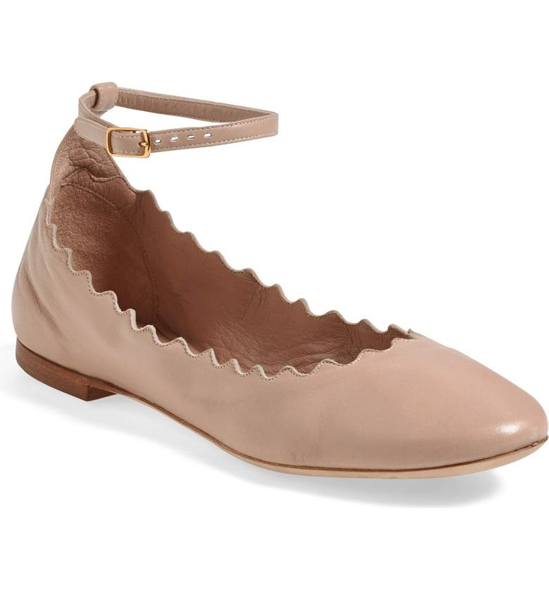 c3a3536679a Chloé Scalloped Ankle Strap Flat (Women)