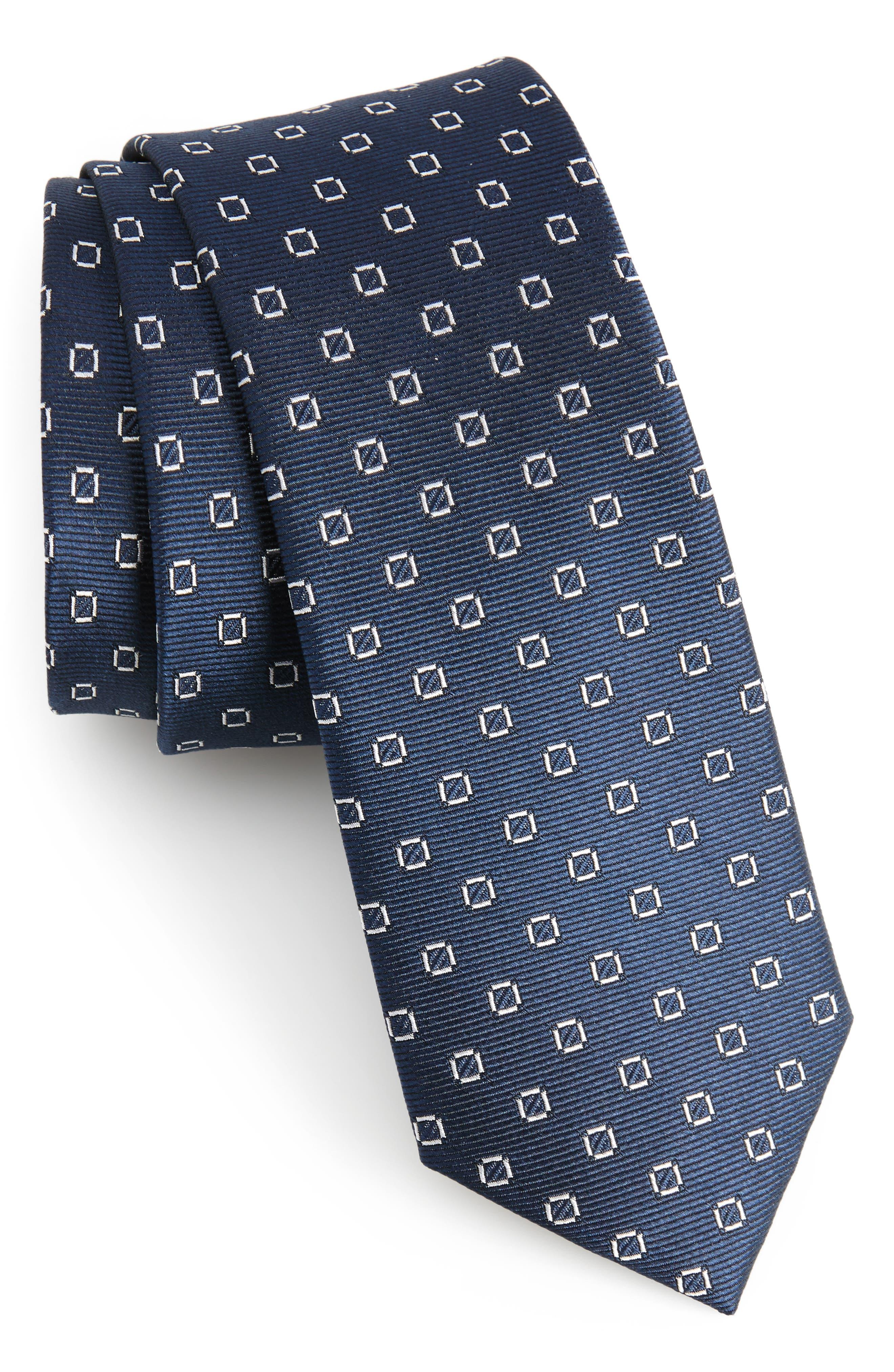 Junction Geo Silk Skinny Tie,                             Main thumbnail 1, color,                             410