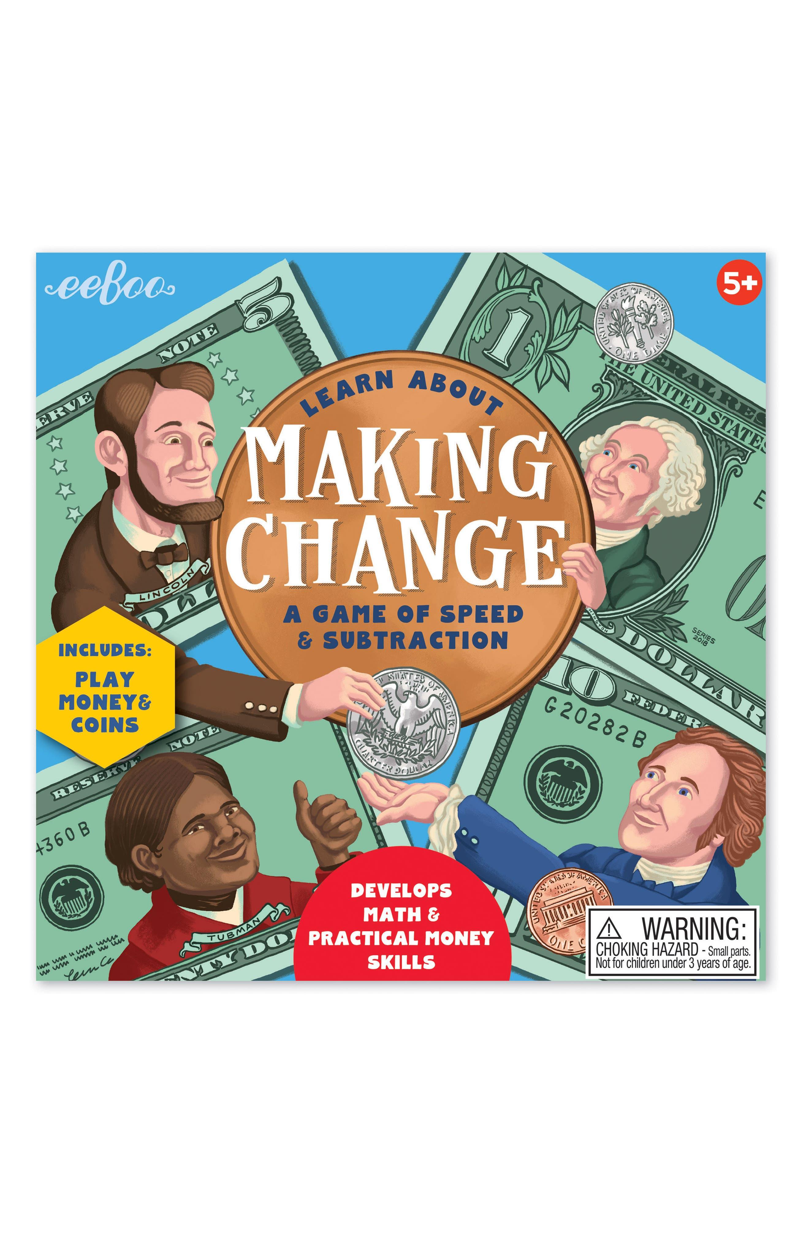 Making Change Game,                             Main thumbnail 1, color,                             GREEN