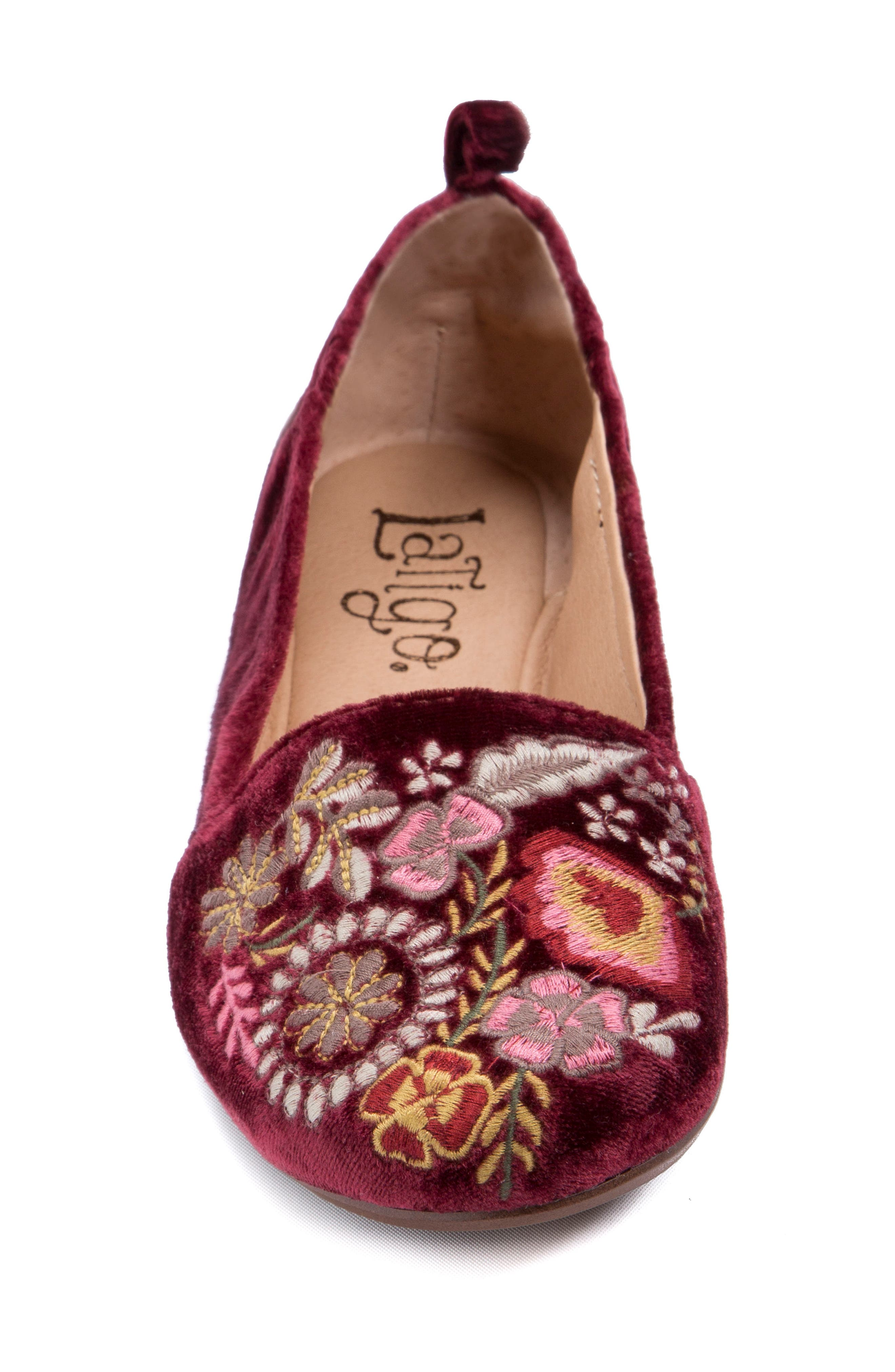 Gayla Floral Embroidered Flat,                             Alternate thumbnail 11, color,