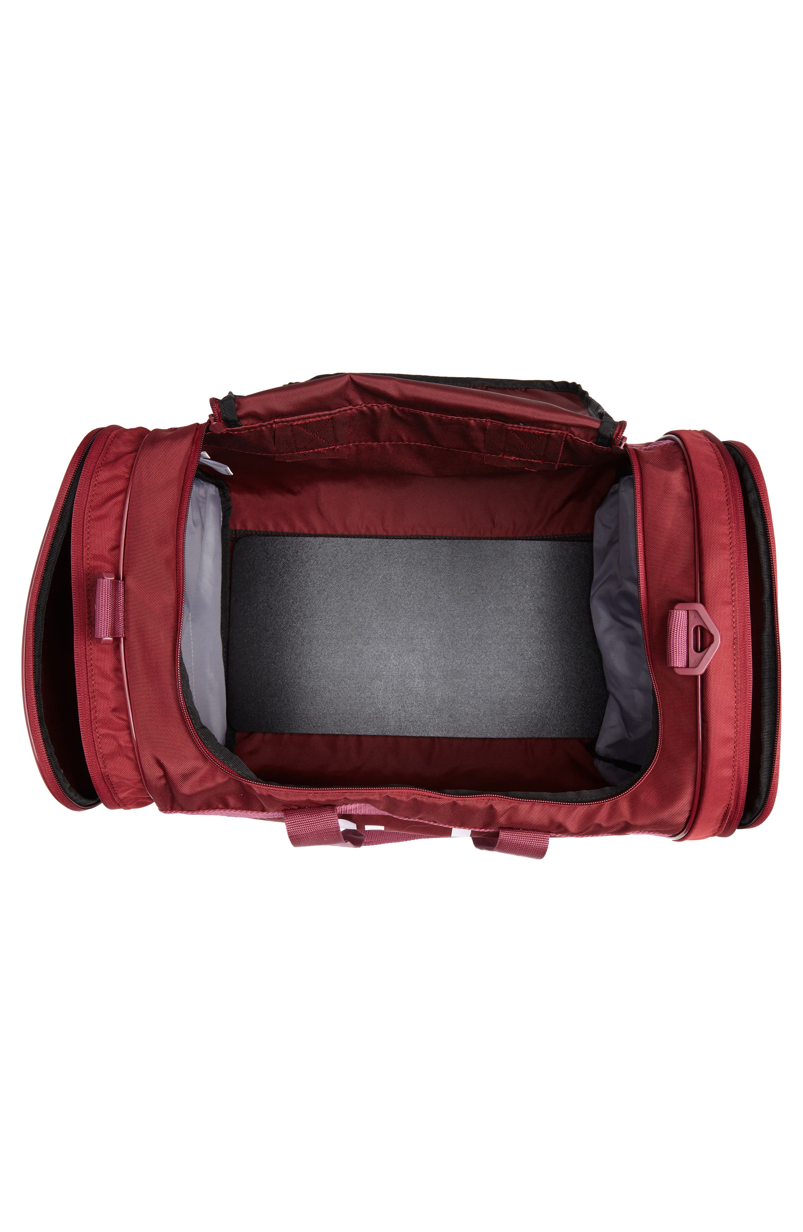 adidas Original Santiago Duffel Bag,                             Alternate thumbnail 4, color,                             COLLEGIATE BURGUNDY/ WHITE