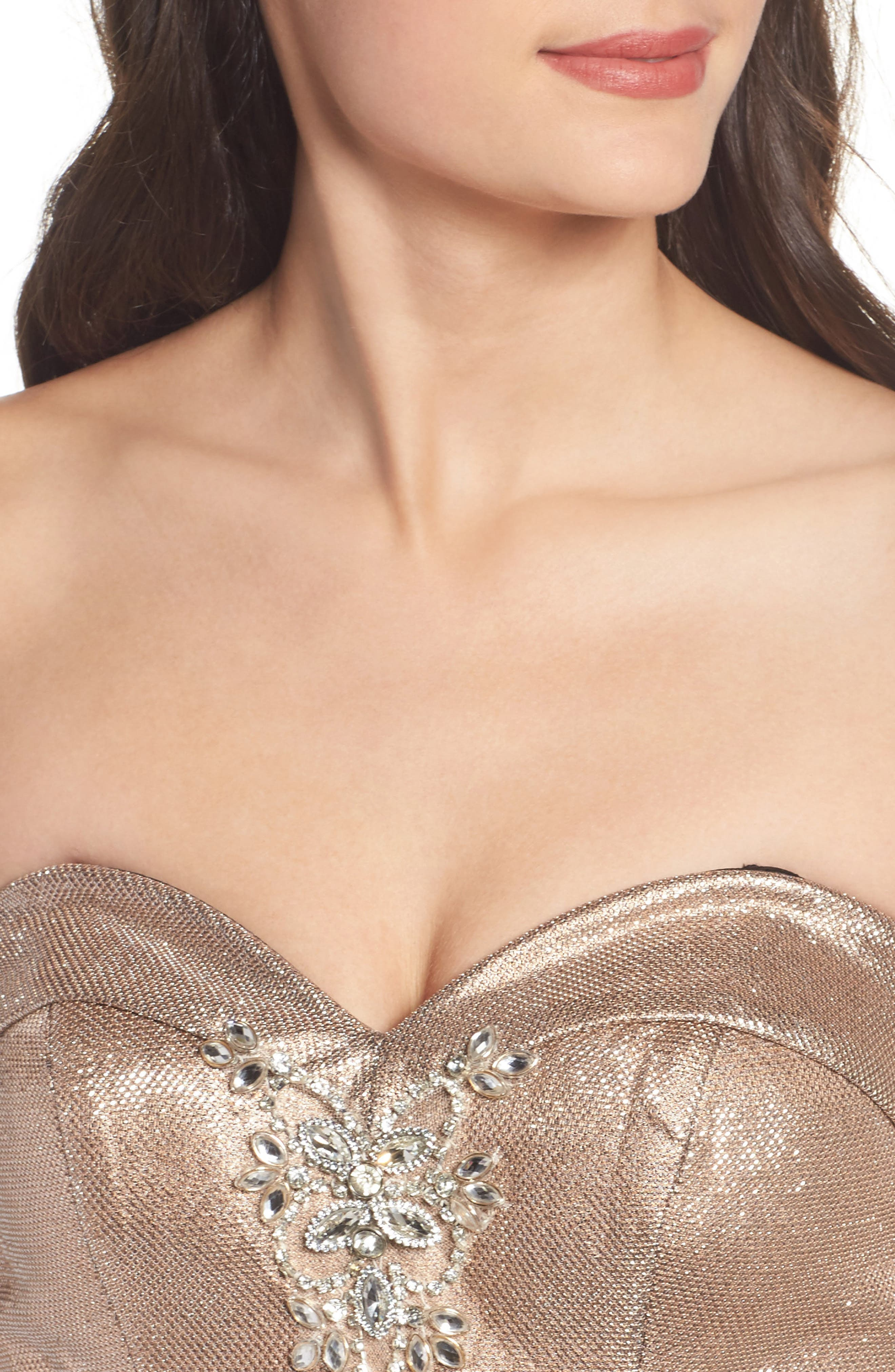 Metallic Mermaid Gown,                             Alternate thumbnail 4, color,