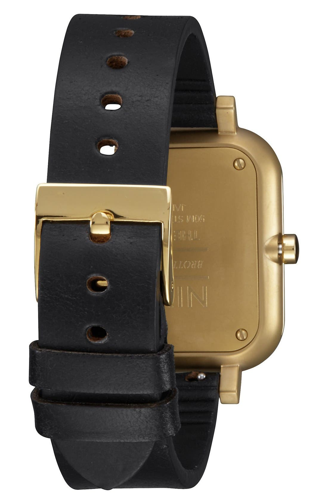 'Ragnar' Leather Strap Watch, 40mm,                             Alternate thumbnail 2, color,                             001