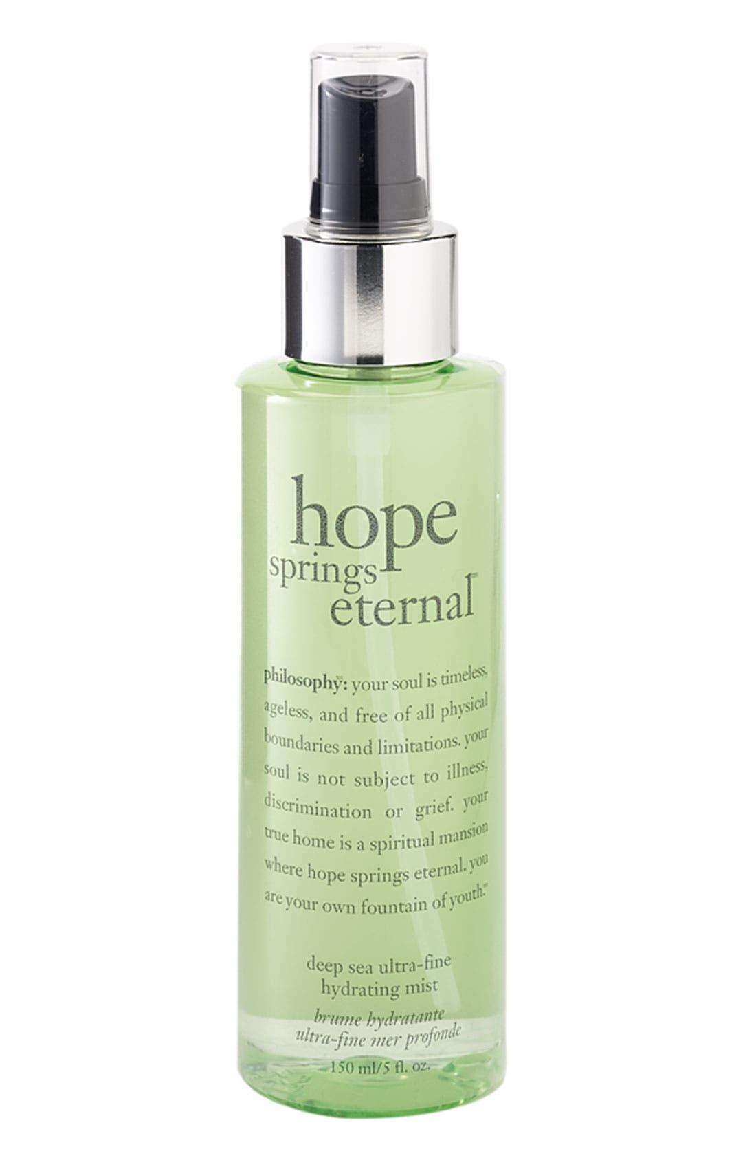 'hope springs eternal' facial mist,                         Main,                         color, 000