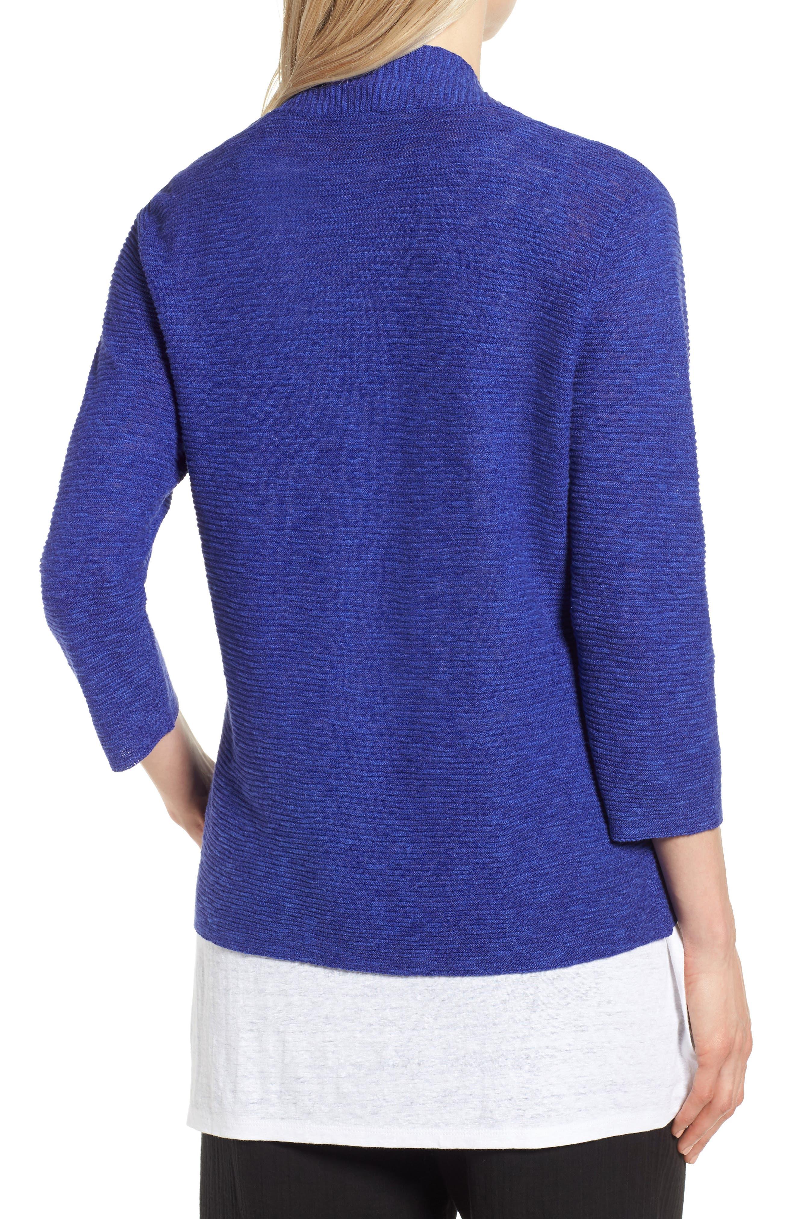 Simple Organic Linen & Cotton Cardigan,                             Alternate thumbnail 6, color,
