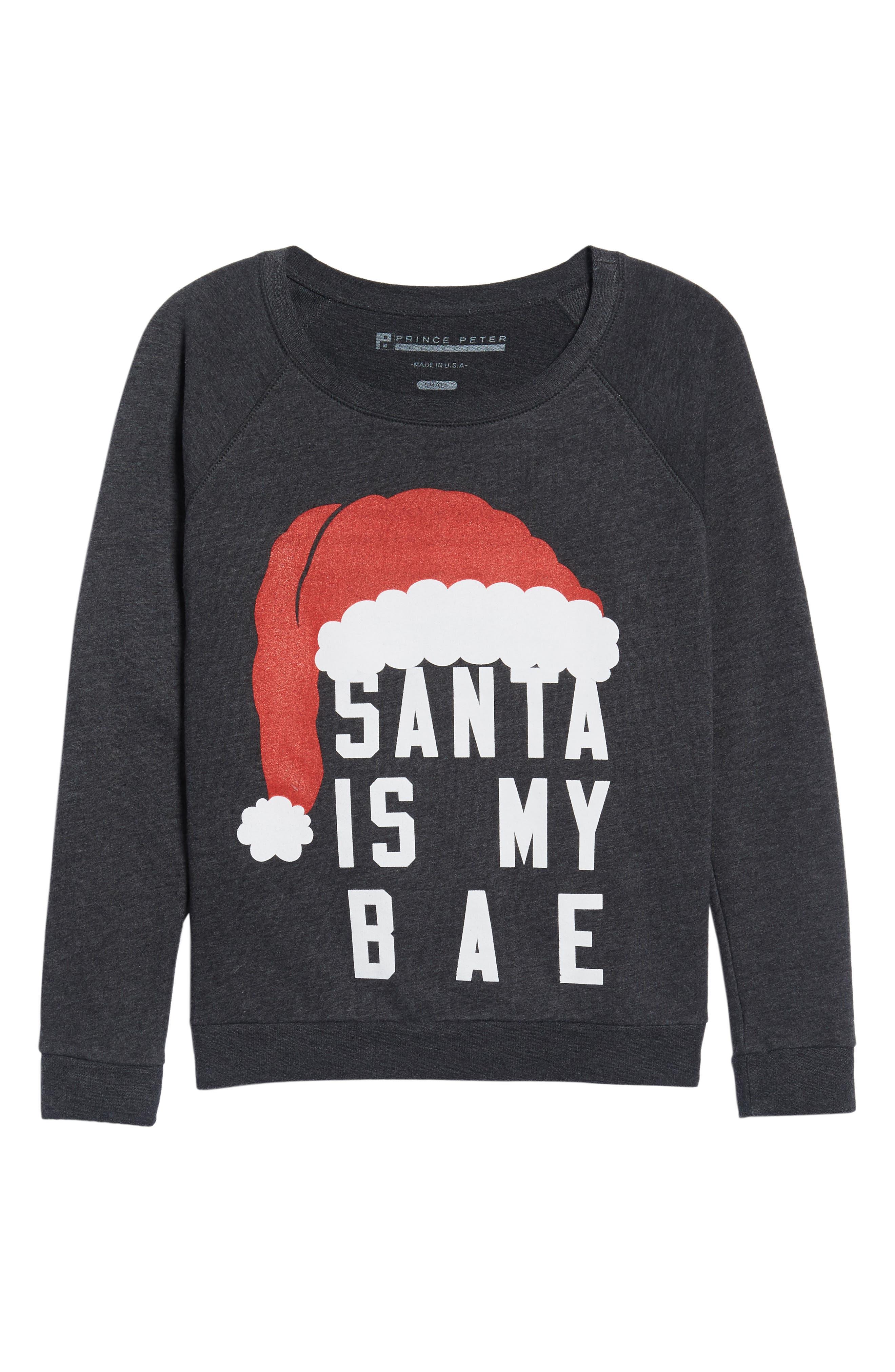 Santa Is My Bae Pullover,                             Alternate thumbnail 6, color,                             020
