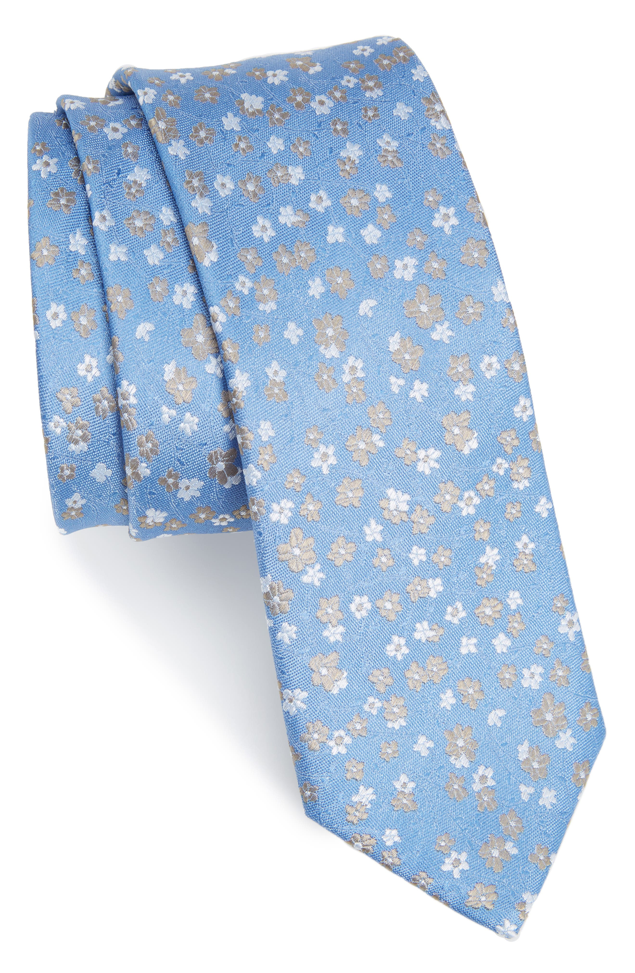 Freefall Floral Silk Tie,                             Main thumbnail 4, color,