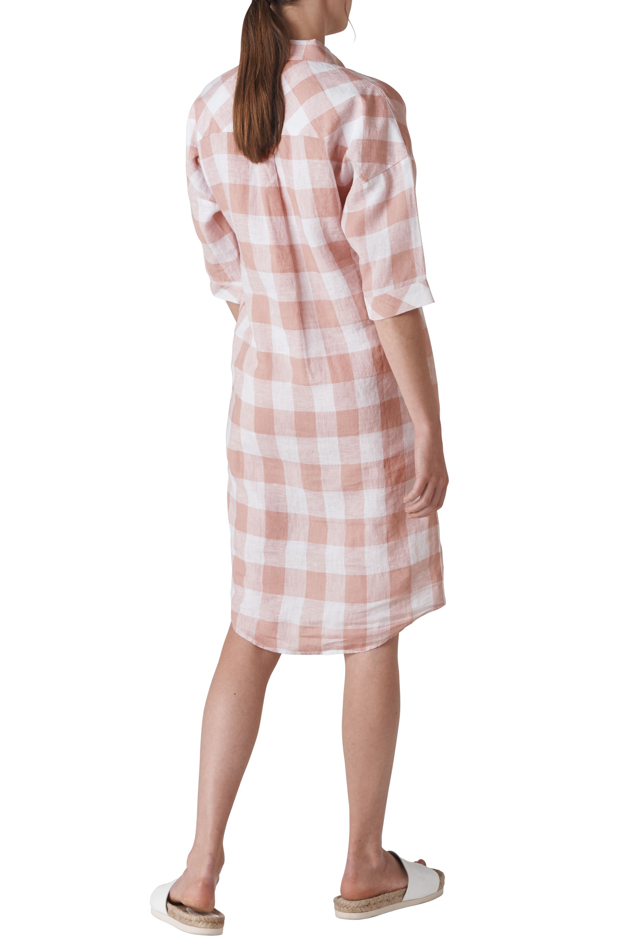 Lola Gingham Dress,                             Alternate thumbnail 2, color,                             MULTI COLOR