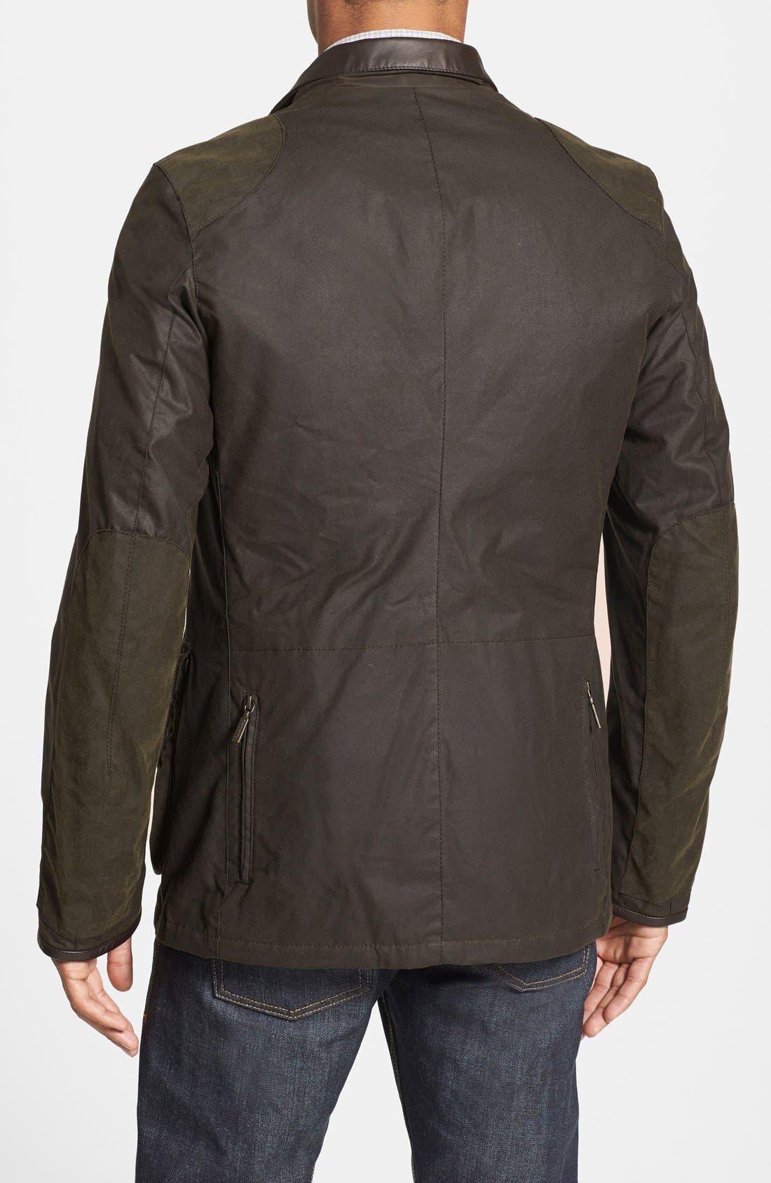 'Beacon' Slim Fit Waxed Cotton Sport Jacket,                             Alternate thumbnail 4, color,                             340