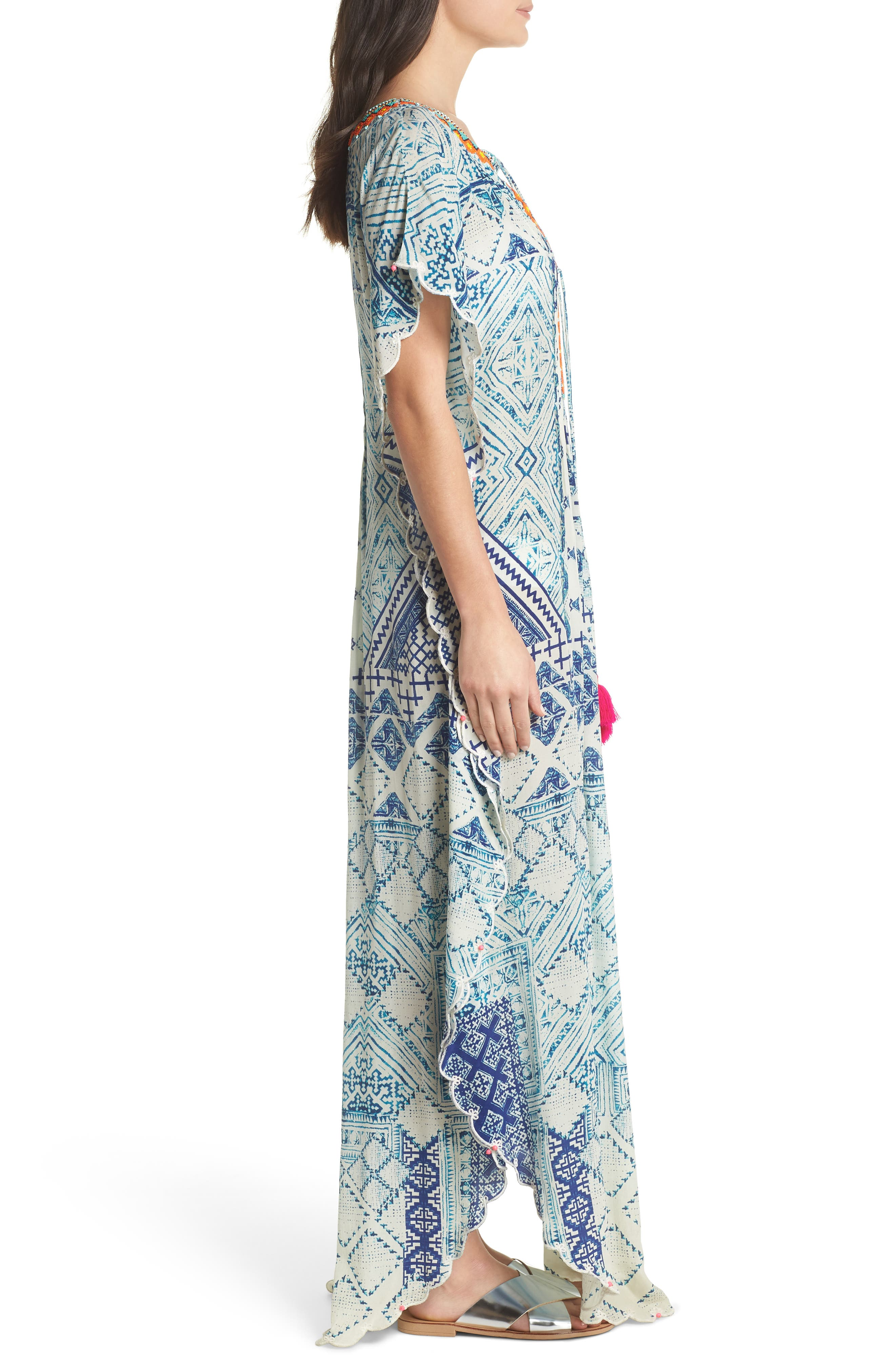 Hemant & Nandita Cover-Up Caftan,                             Alternate thumbnail 3, color,                             405