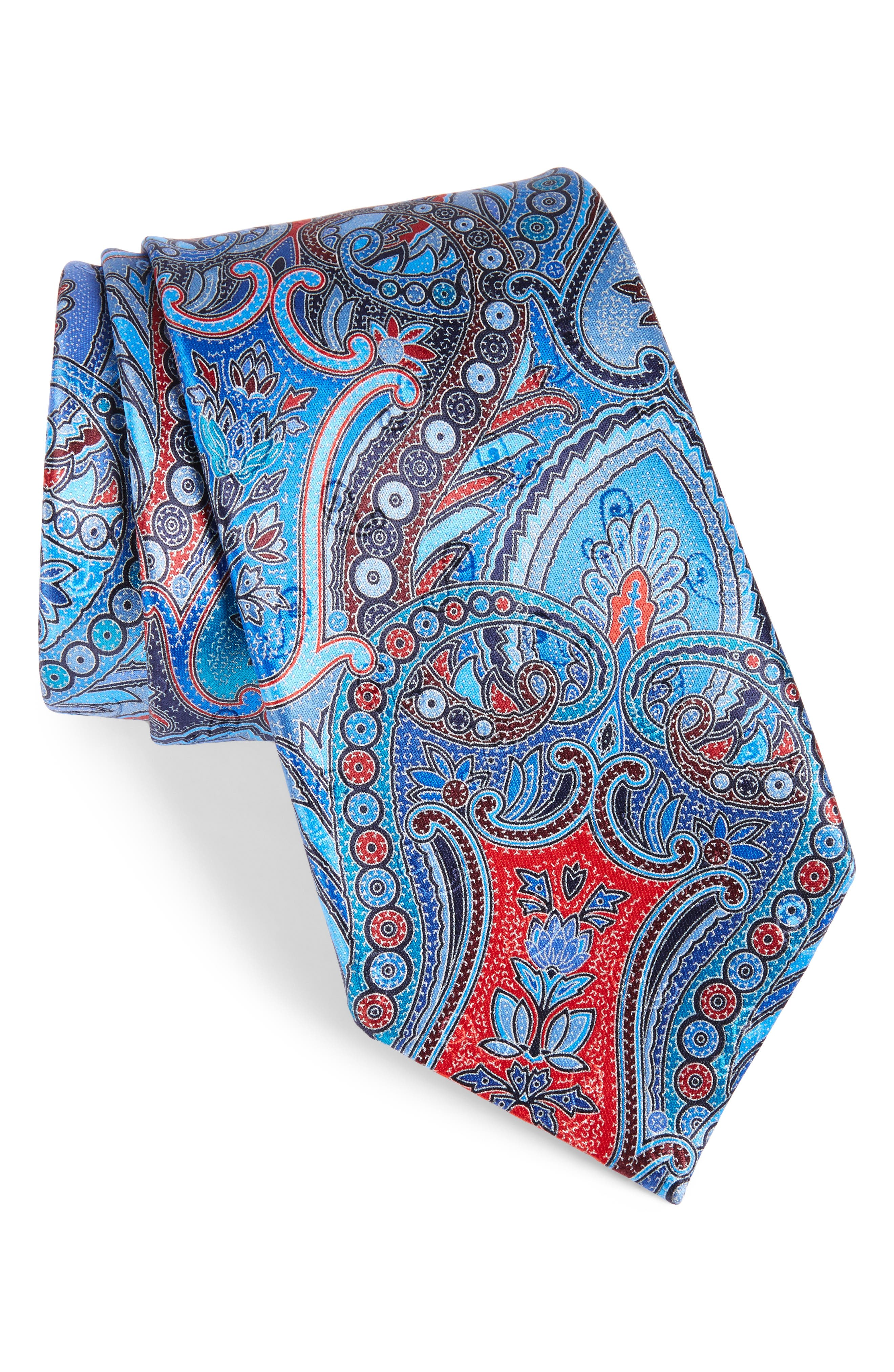 Quindici Paisley Silk Tie,                             Main thumbnail 1, color,                             418